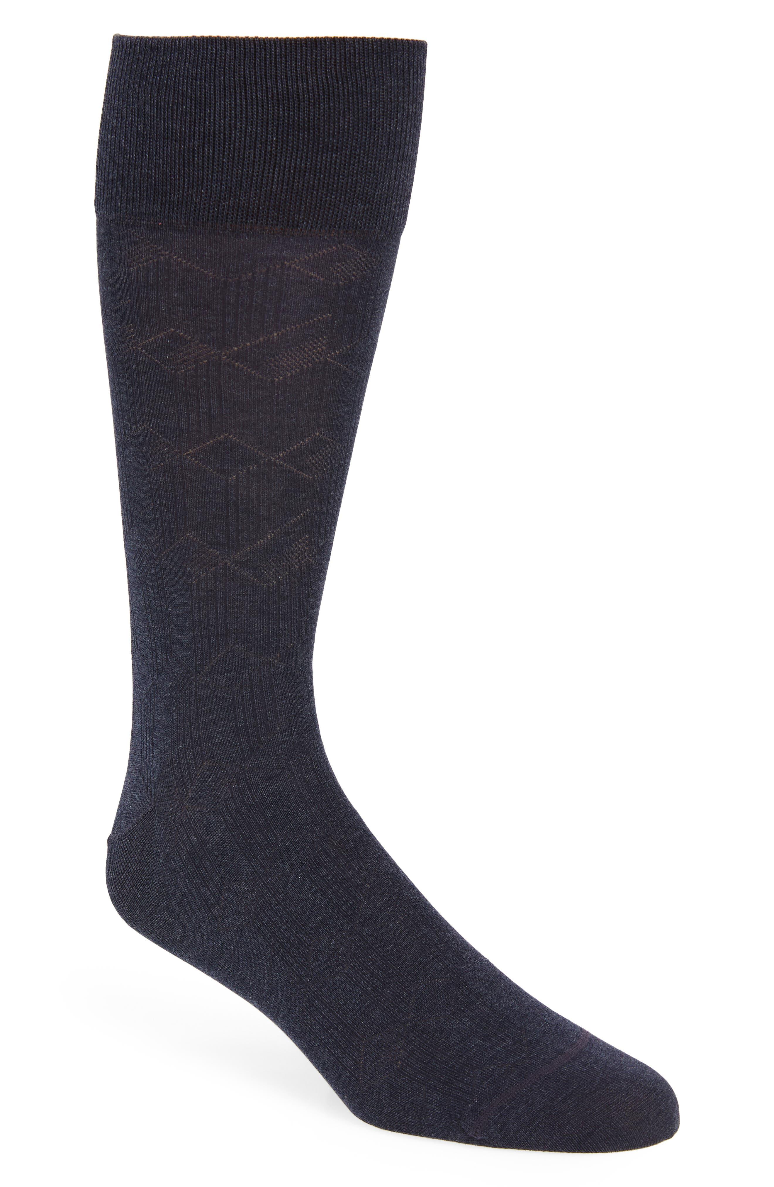 John W. Nordstrom® Tumbling Blocks Socks