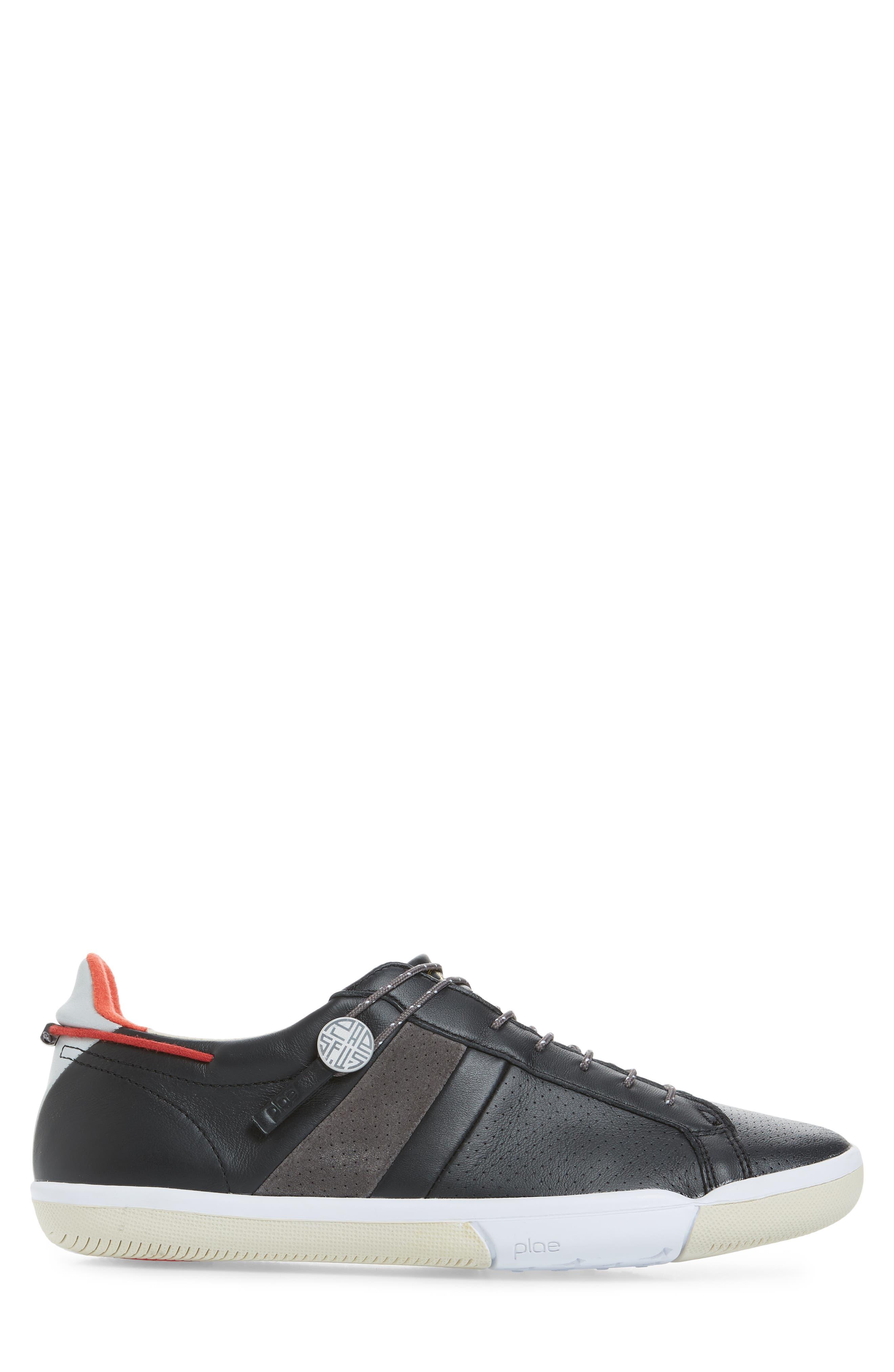 Mulberry Low Top Sneaker,                             Alternate thumbnail 3, color,                             Black