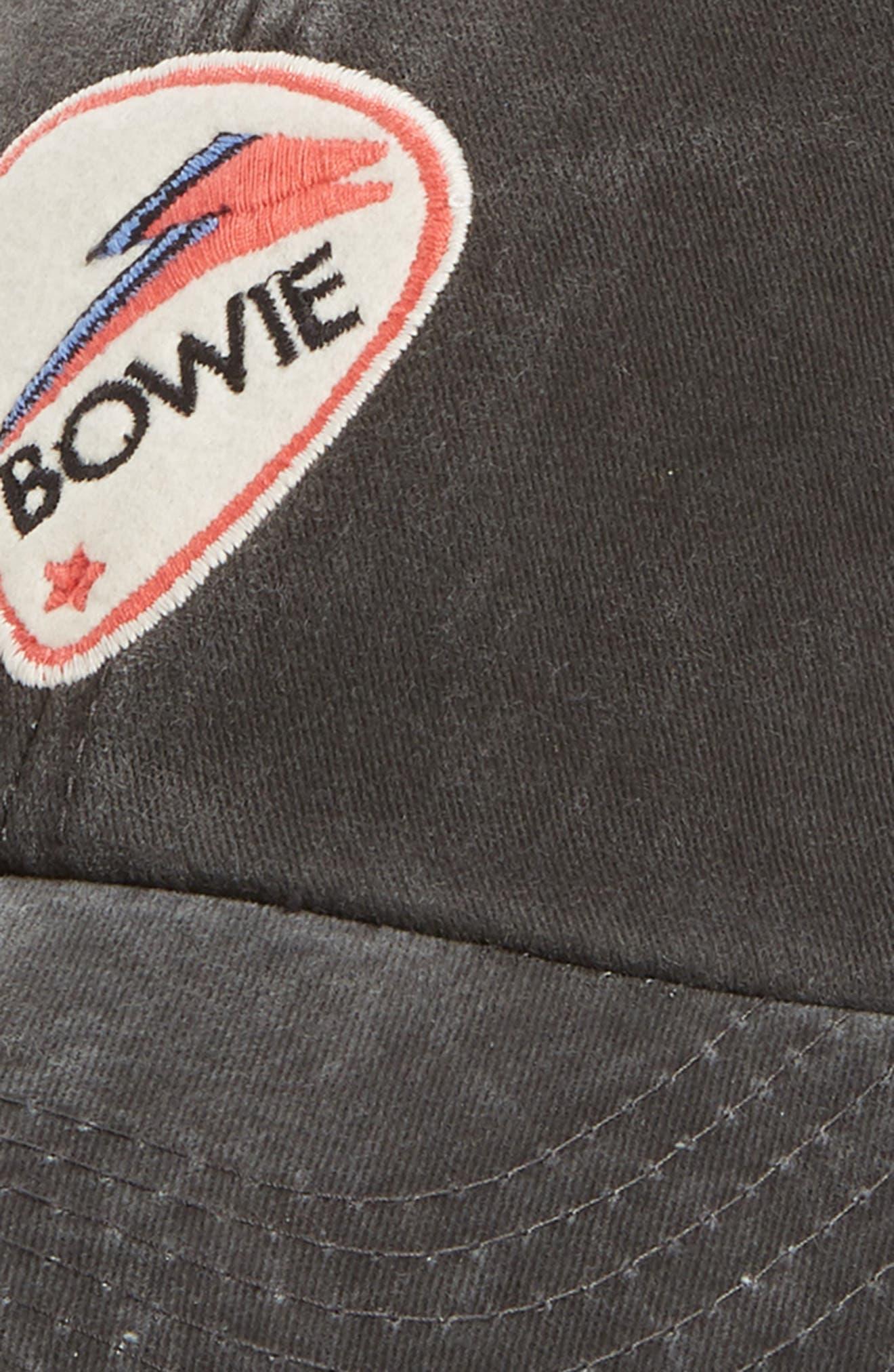Raglan Bones Bowie Ball Cap,                             Alternate thumbnail 3, color,                             Black