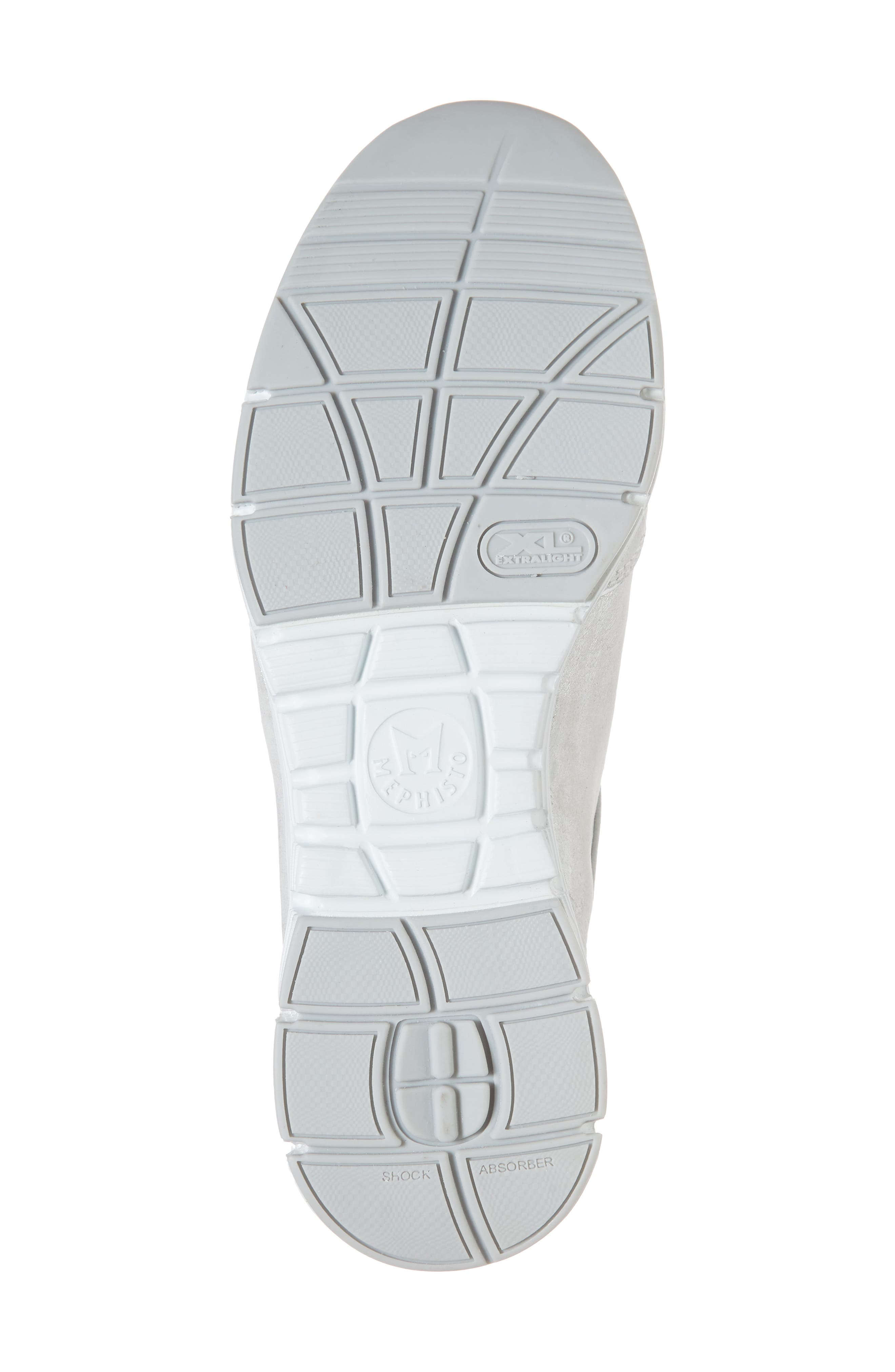 'Yael' Soft-Air Sneaker,                             Alternate thumbnail 6, color,                             Silver Leather