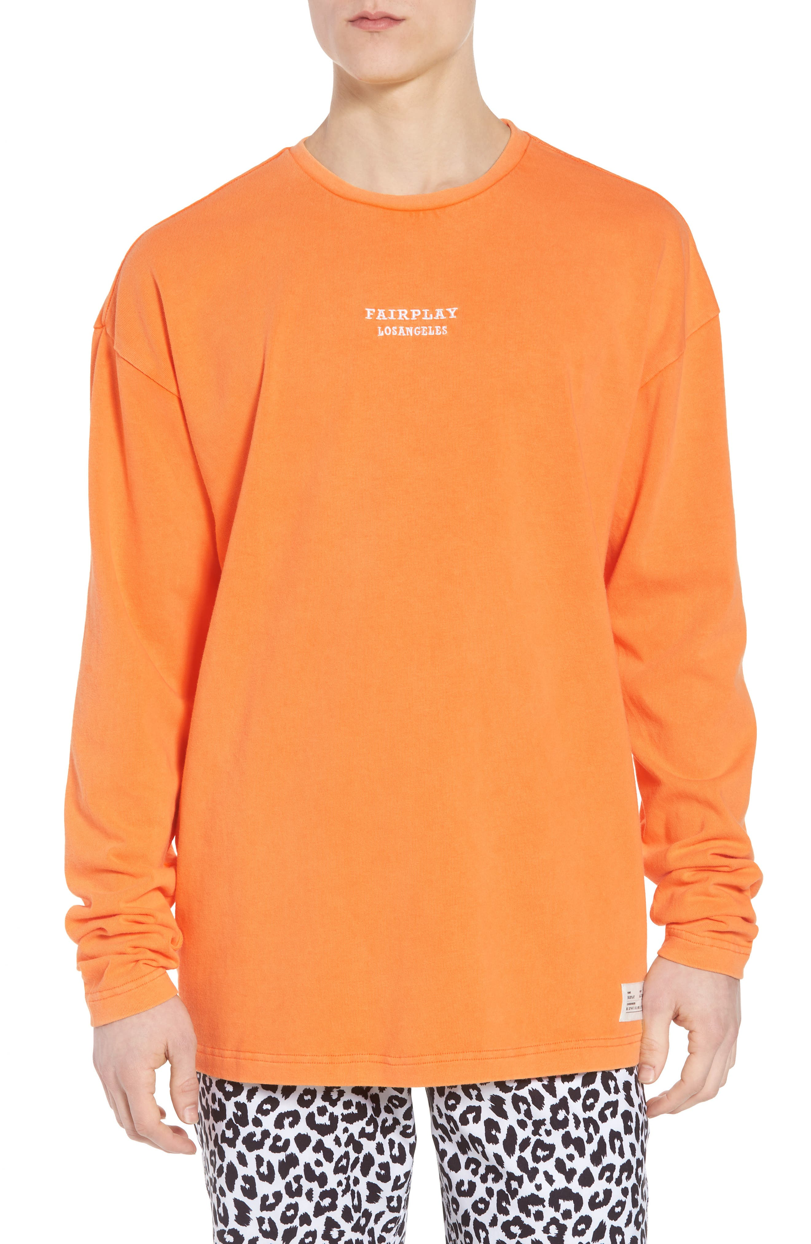 Anderson Sweatshirt,                         Main,                         color, Orange