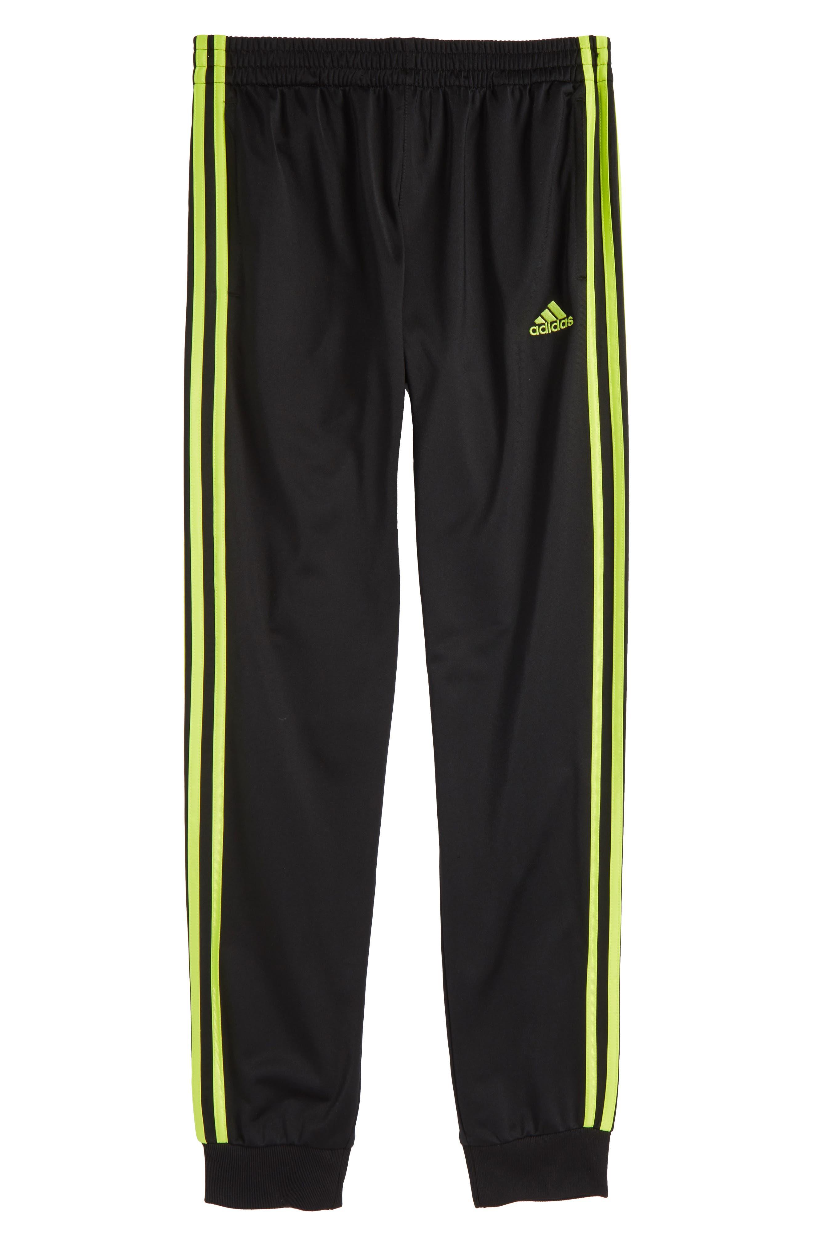 Iconic Jogger Pants,                             Alternate thumbnail 4, color,                             Black/ Yellow