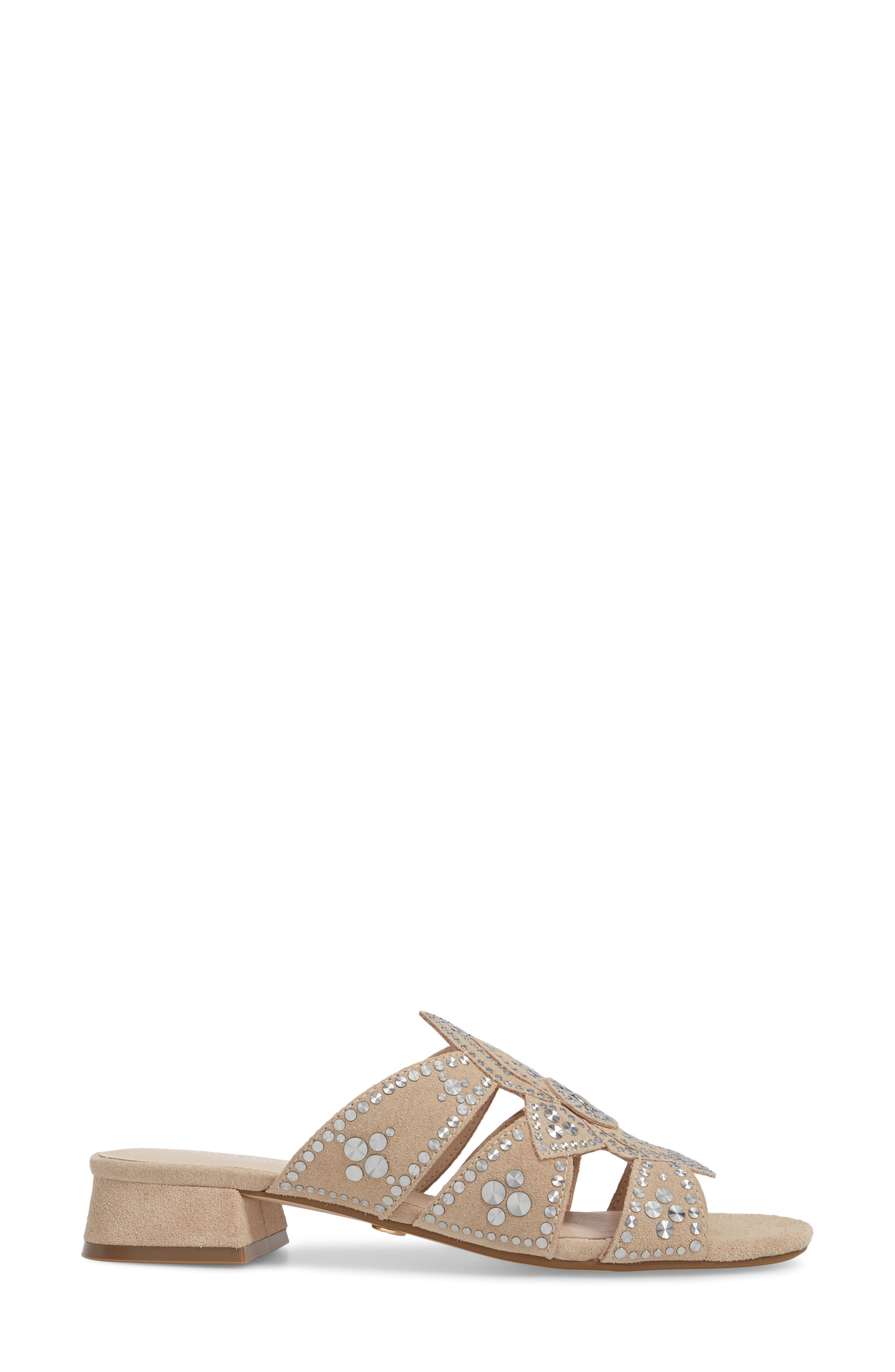 Martini Sandal,                             Alternate thumbnail 3, color,                             Bone Suede