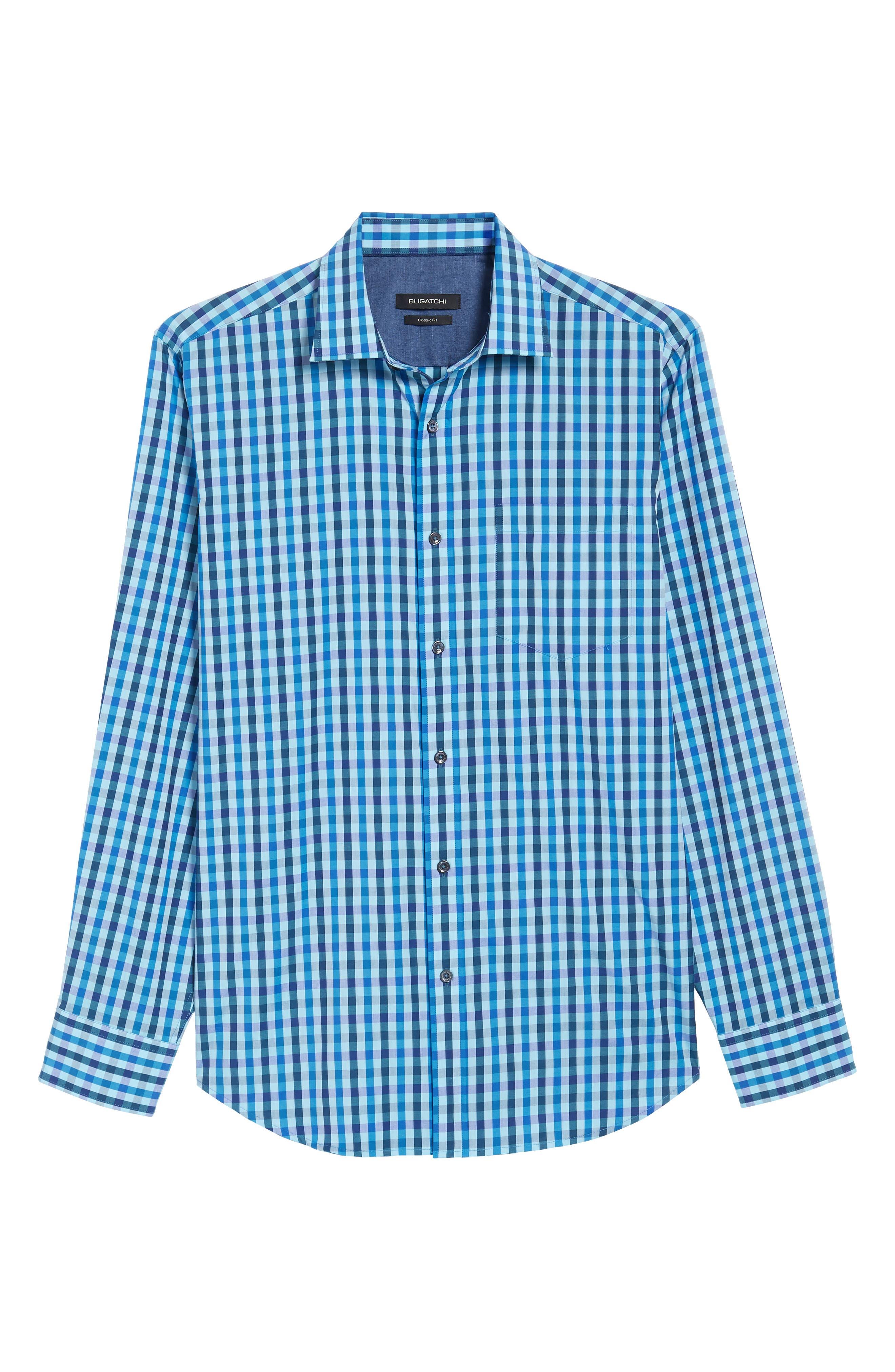 Classic Fit Woven Sport Shirt,                             Alternate thumbnail 6, color,                             Turquoise