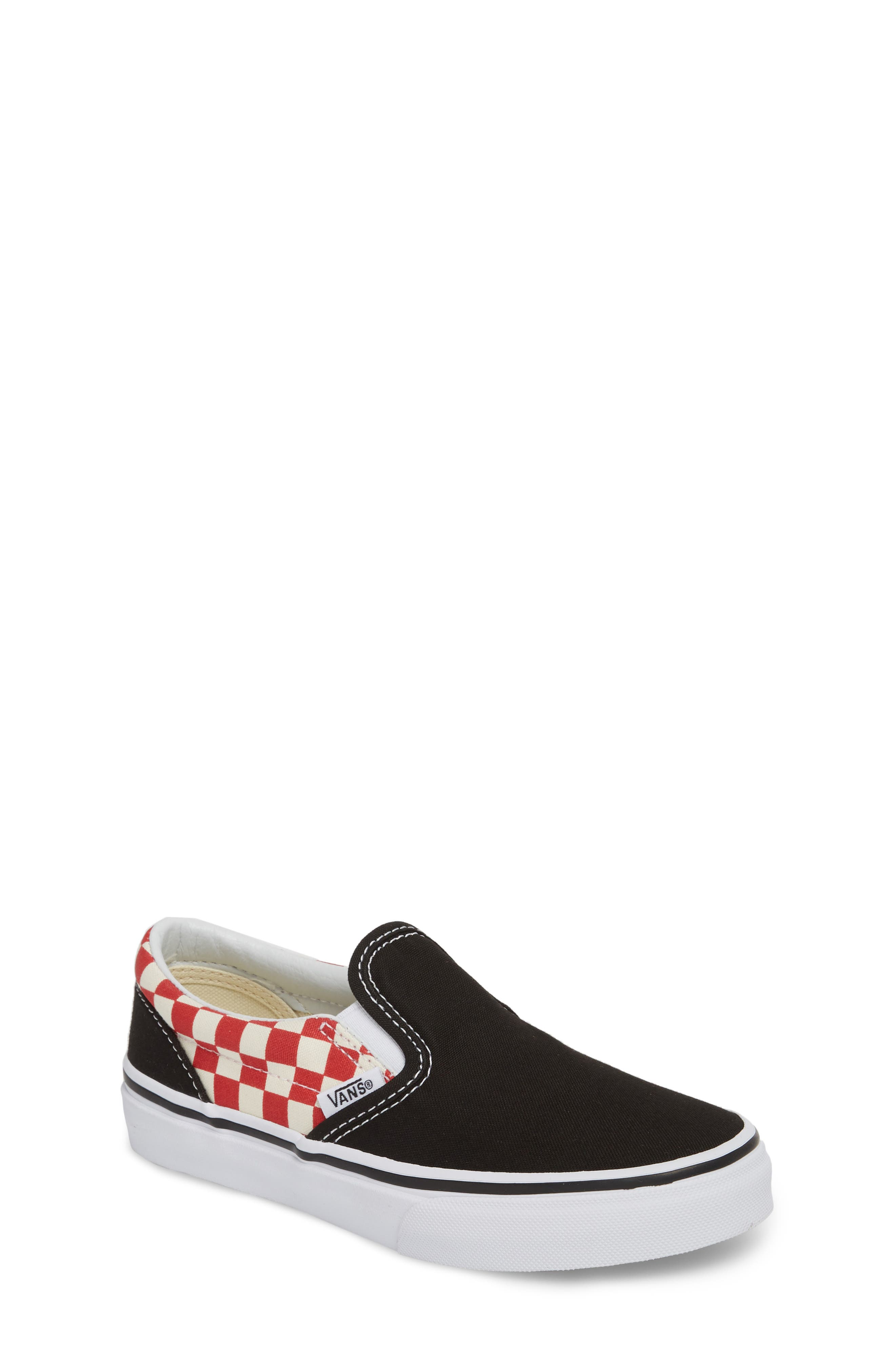 Alternate Image 1 Selected - Vans 'Classic - Checker' Slip-On (Toddler, Little Kid & Big Kid)