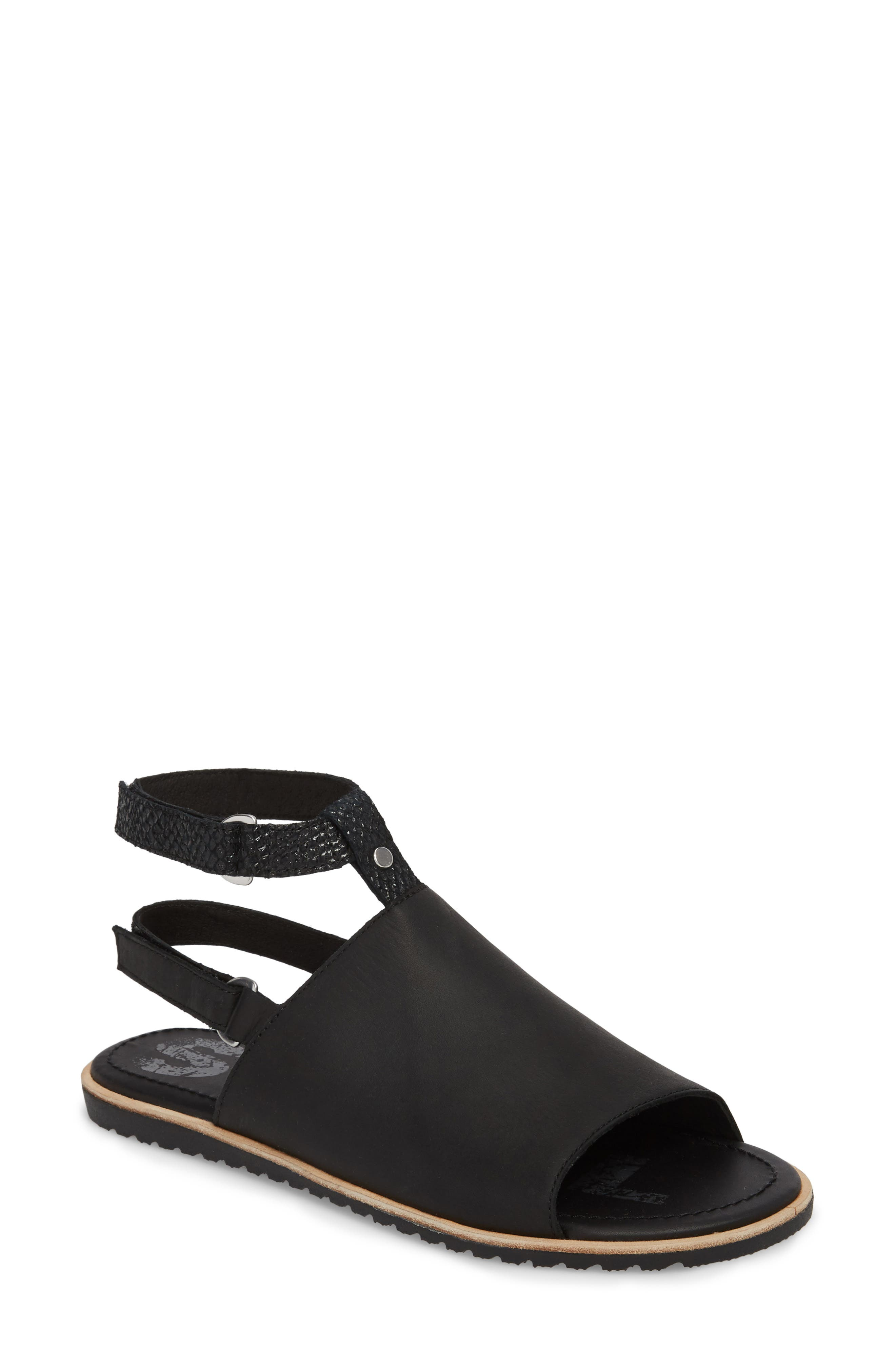 Ella Strappy Sandal,                             Main thumbnail 1, color,                             Black