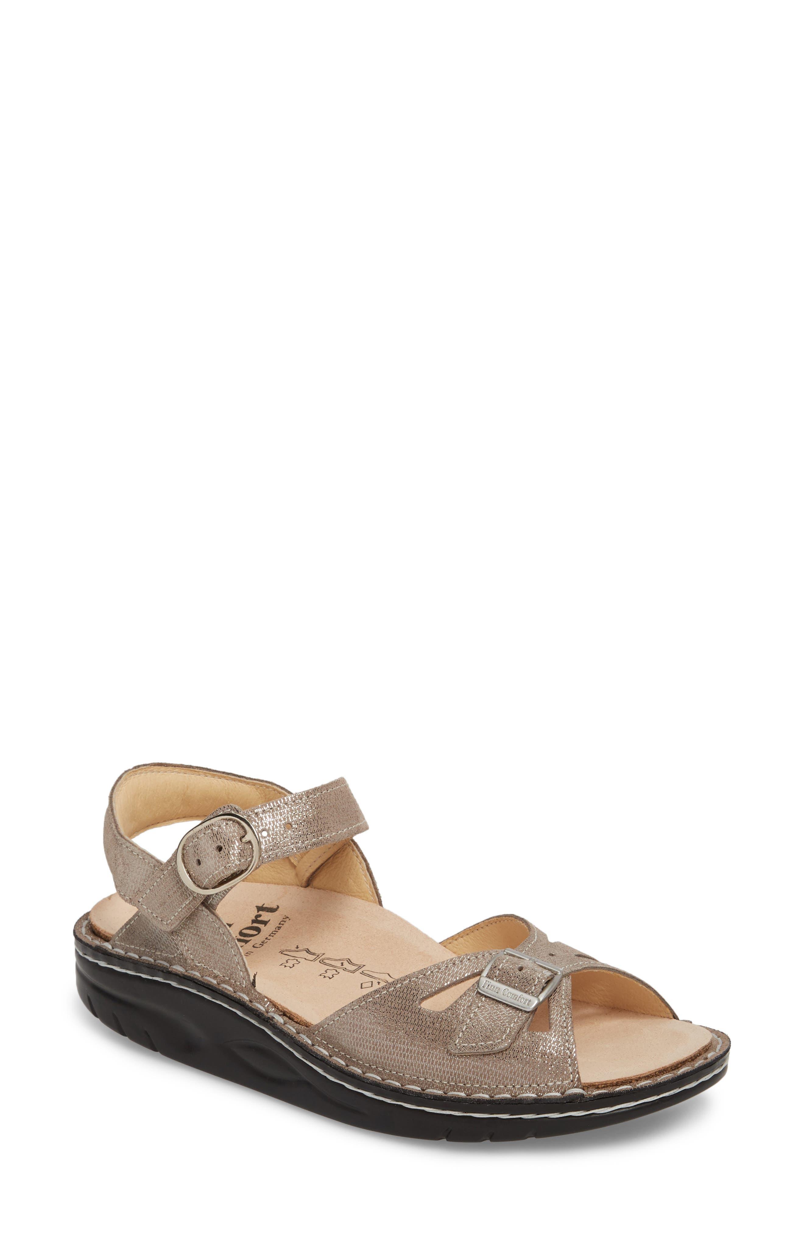 Motomachi Sandal,                         Main,                         color, Fango Leather