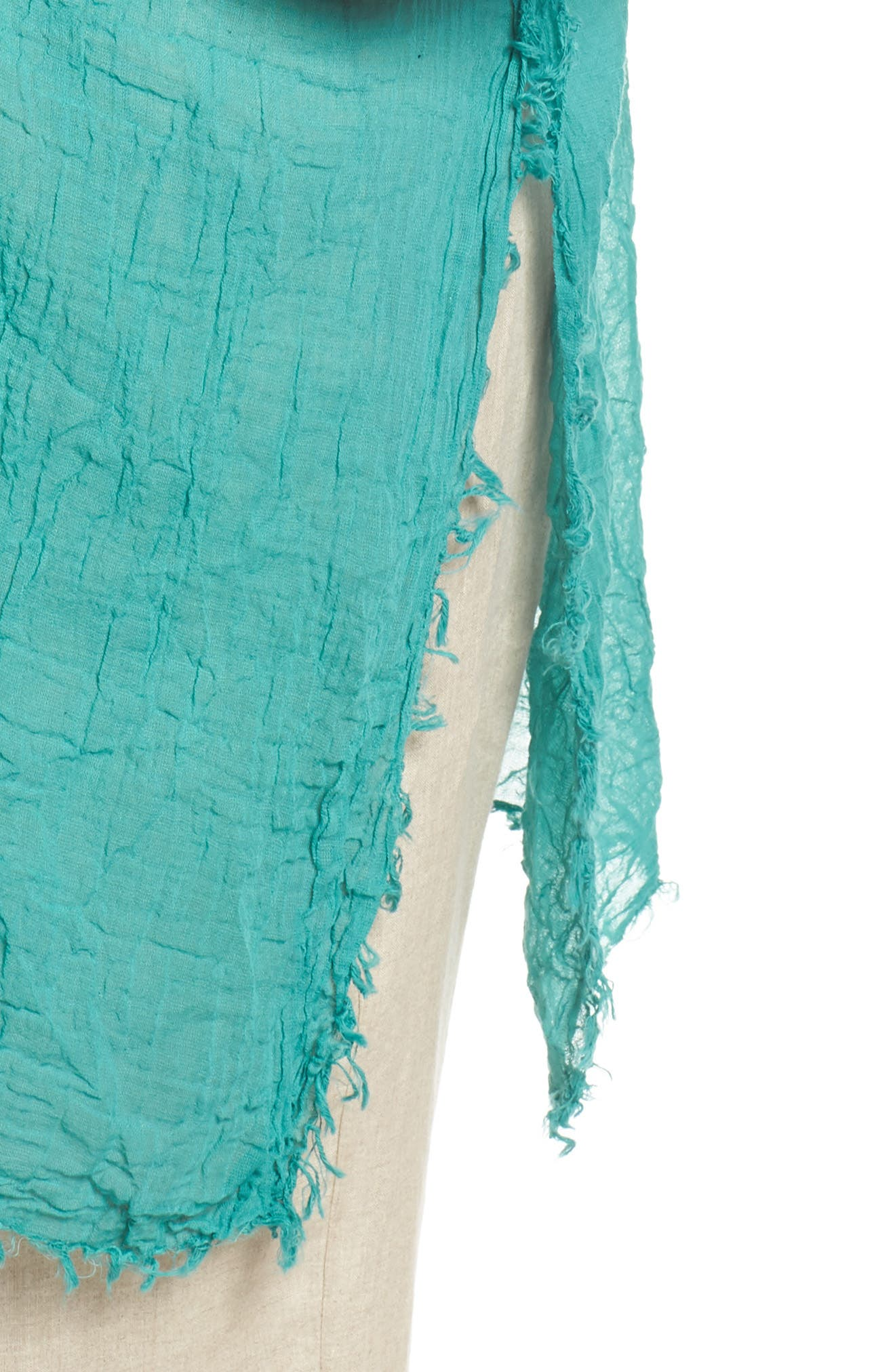 Organic Cotton Poncho,                             Alternate thumbnail 4, color,                             Turquoise