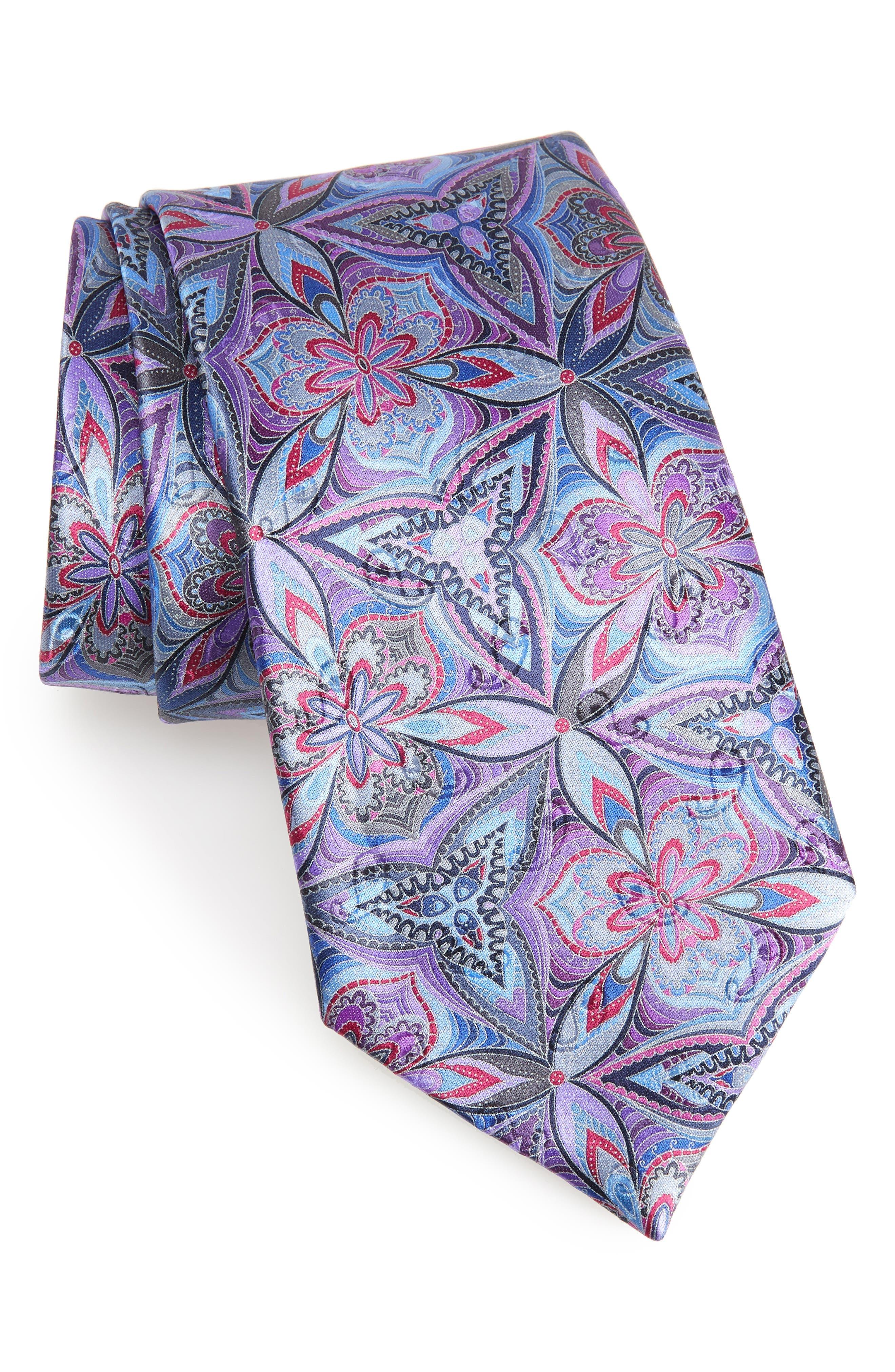 Alternate Image 1 Selected - Ermenegildo Zegna Quindici Floral Silk Tie