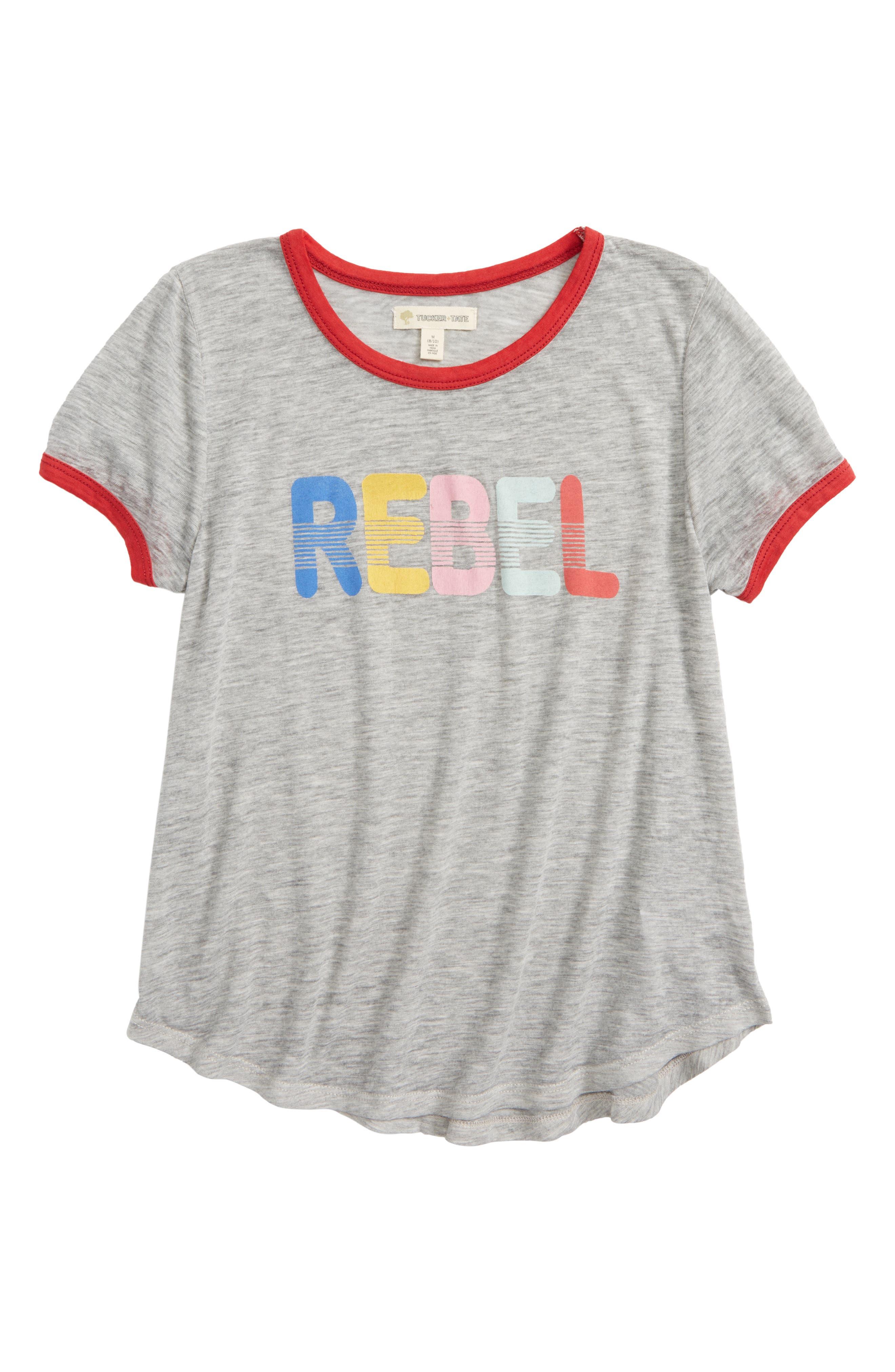 Rebel Ringer Tee,                         Main,                         color, Grey Ash Heather Rebel