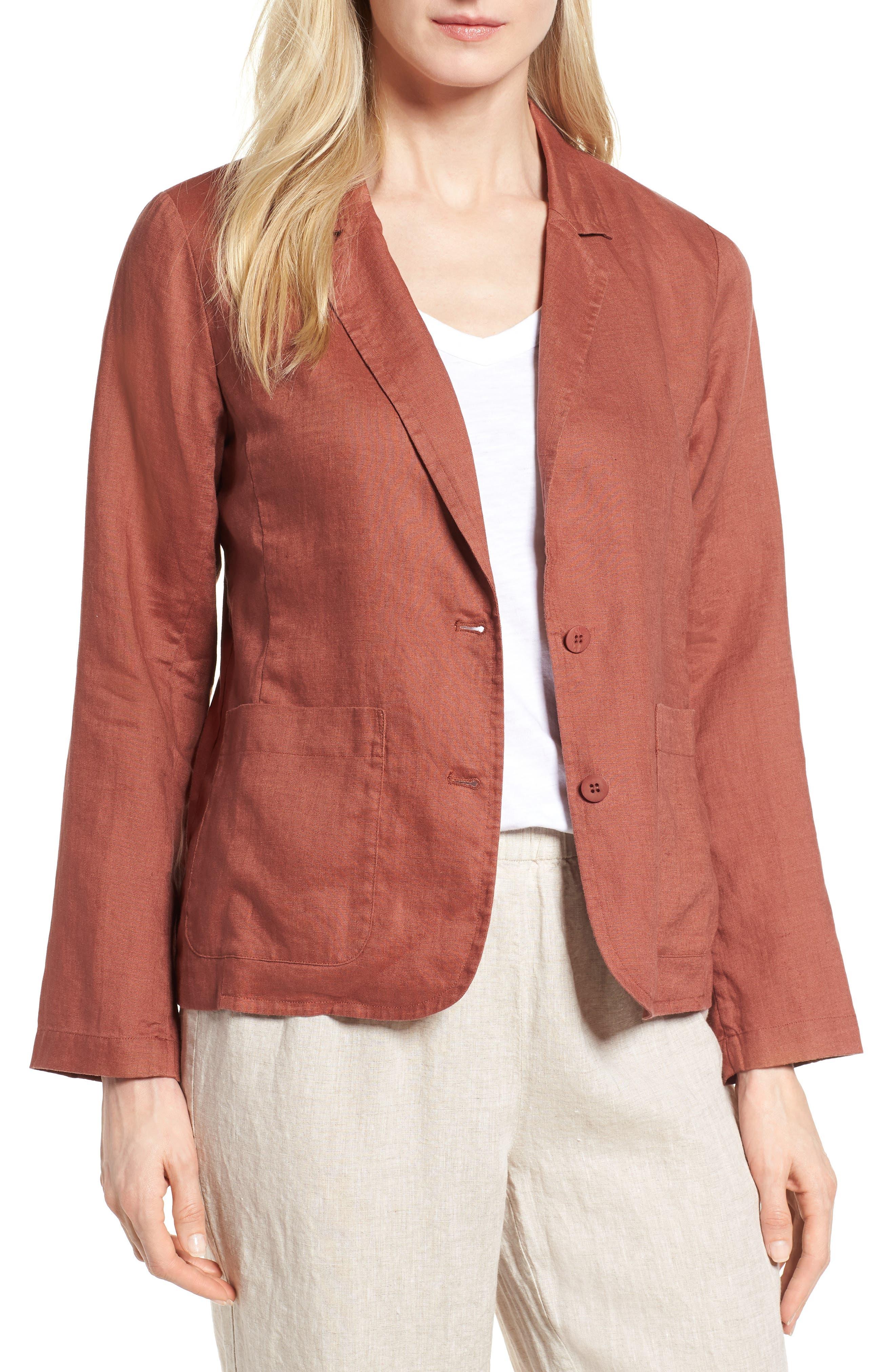Eileen Fisher Organic Linen Blazer (Regular & Petite)