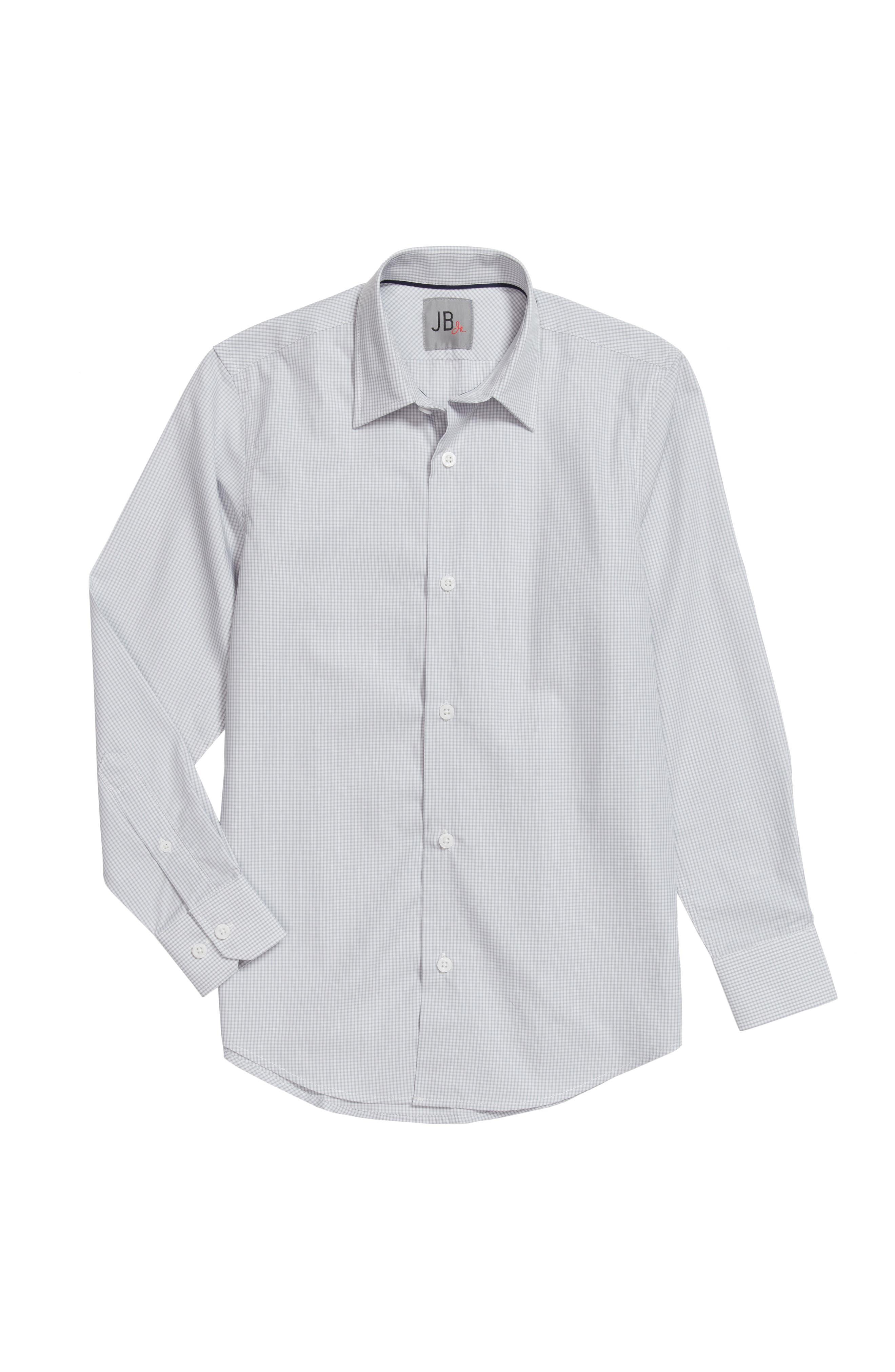 Check Dress Shirt,                         Main,                         color, Grey Mini Check