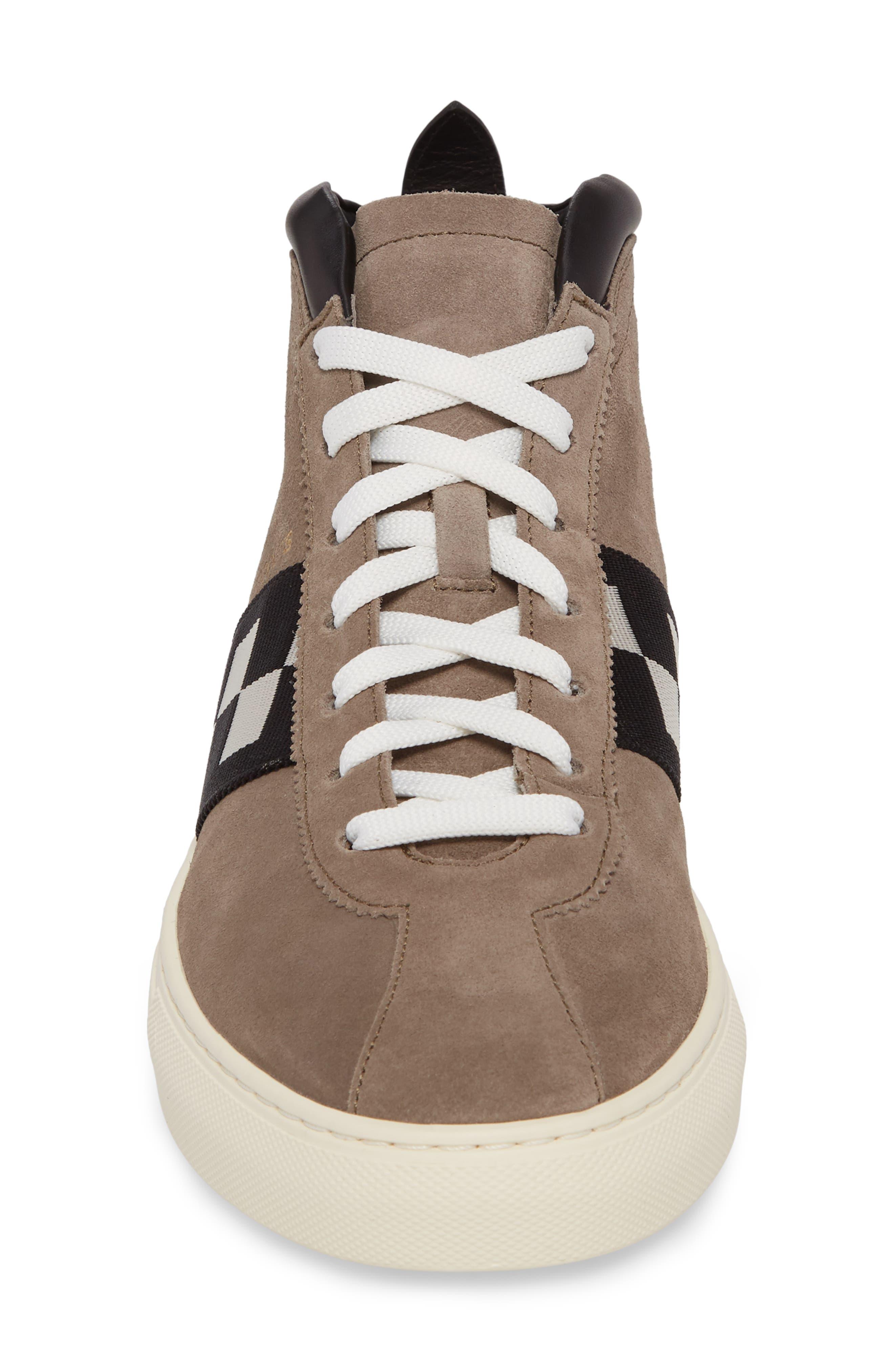 Vita Checkered High Top Sneaker,                             Alternate thumbnail 4, color,                             Snuff