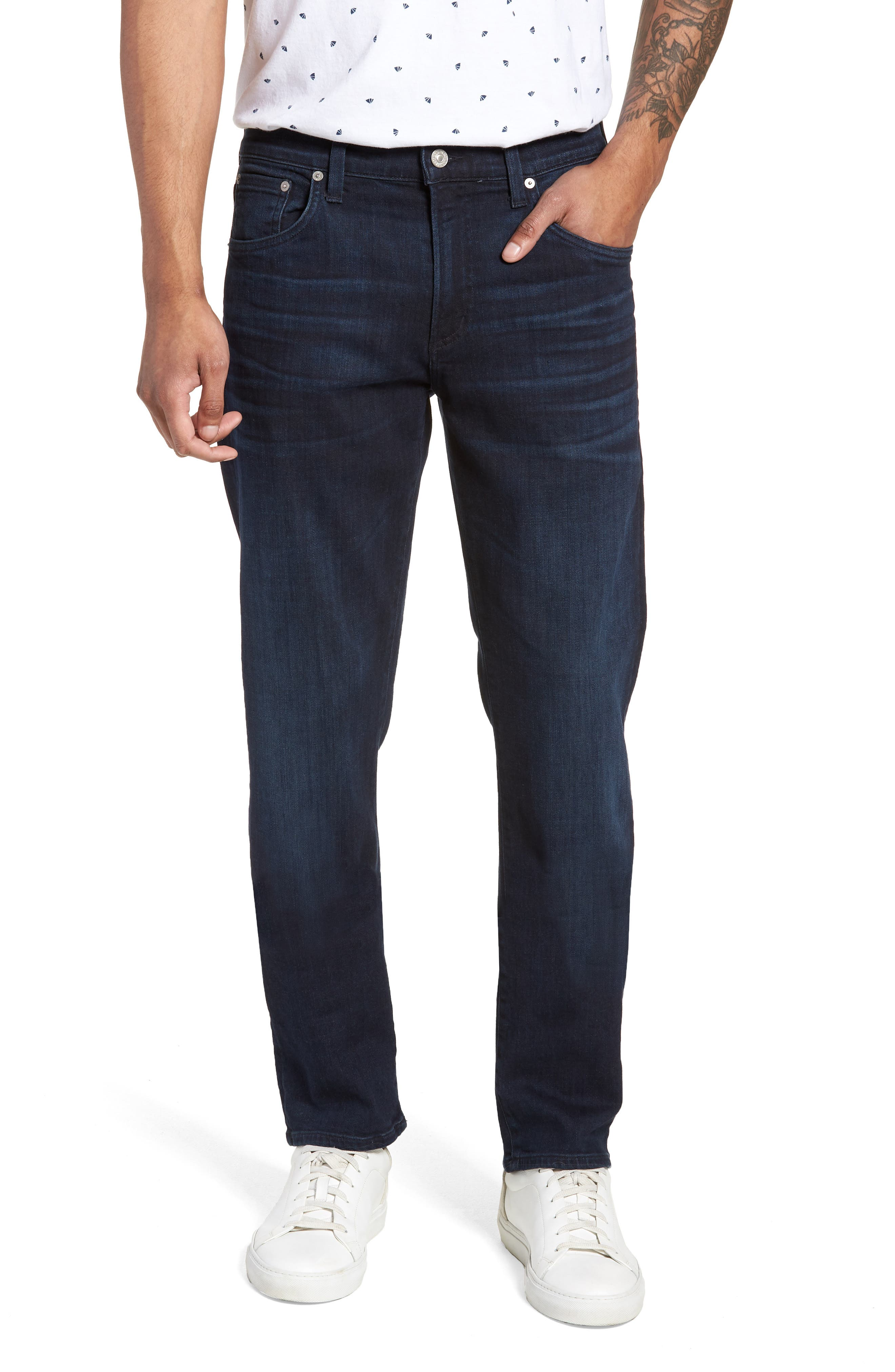 Gage Slim Straight Leg Jeans,                             Main thumbnail 1, color,                             Geary