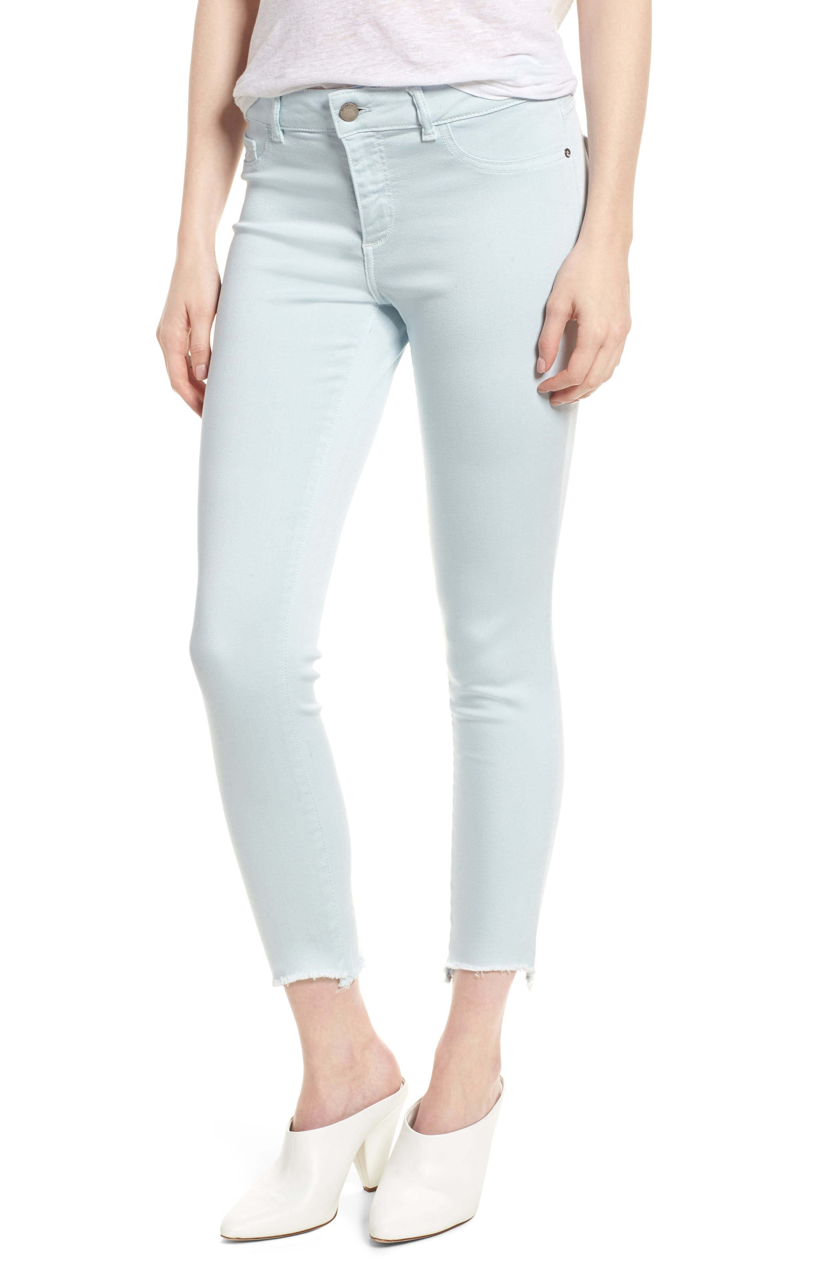 Florence Instasculpt Crop Skinny Jeans,                         Main,                         color, Sky