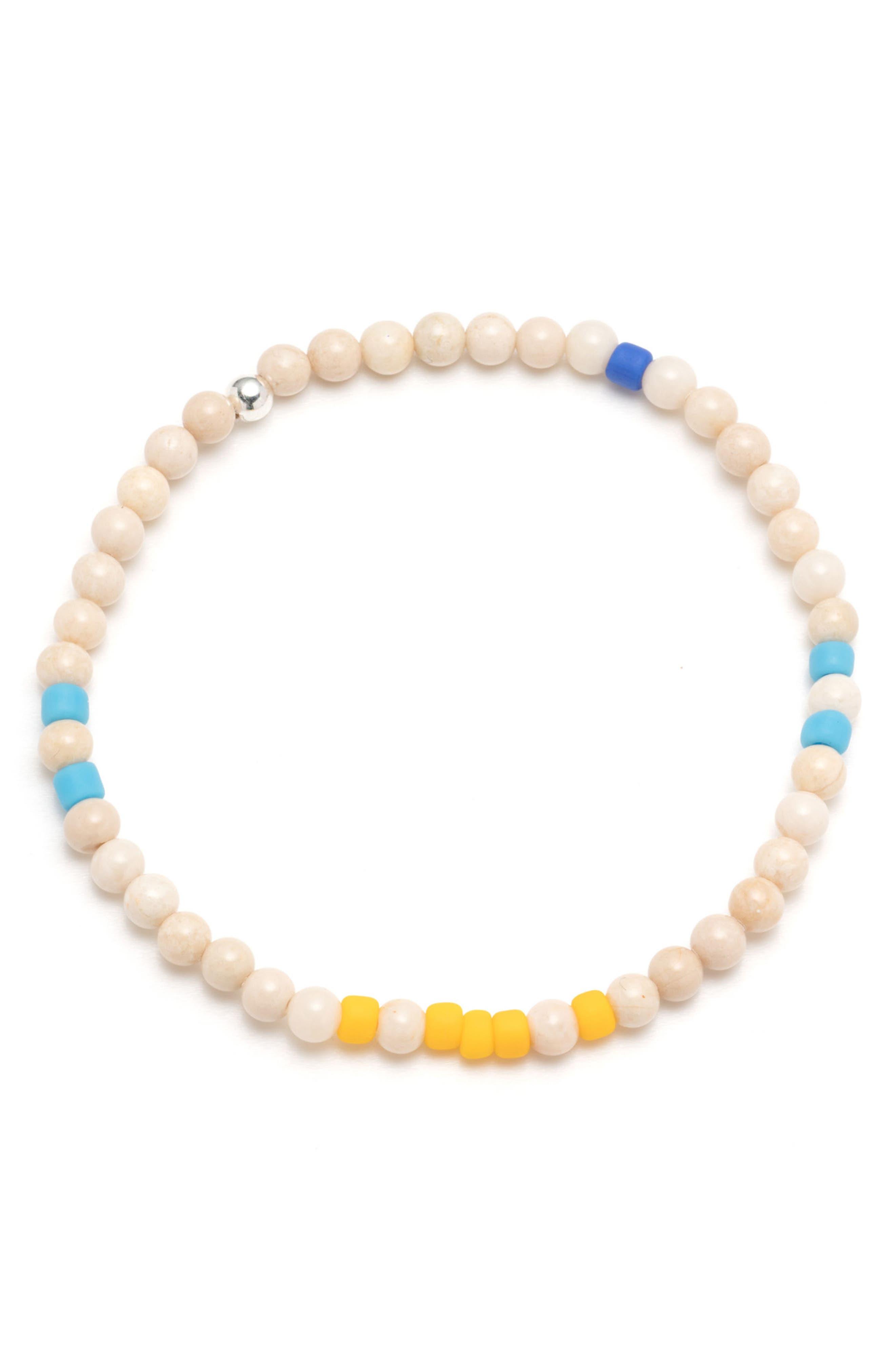 Irie Morse Bracelet,                             Main thumbnail 1, color,                             Blue/ Yellow/ White