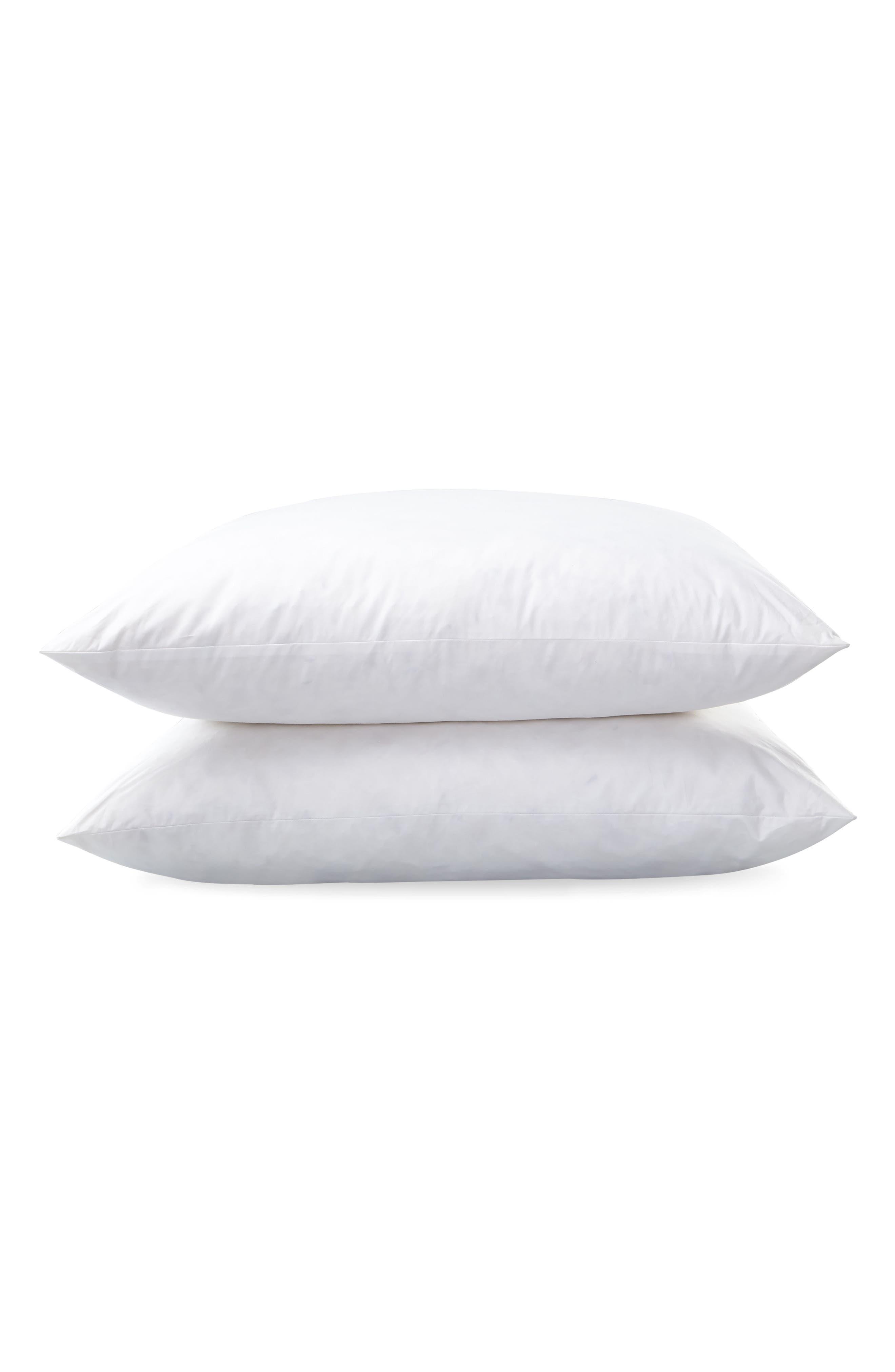 Libero 280 Thread Count Firm Euro Pillow,                         Main,                         color, White
