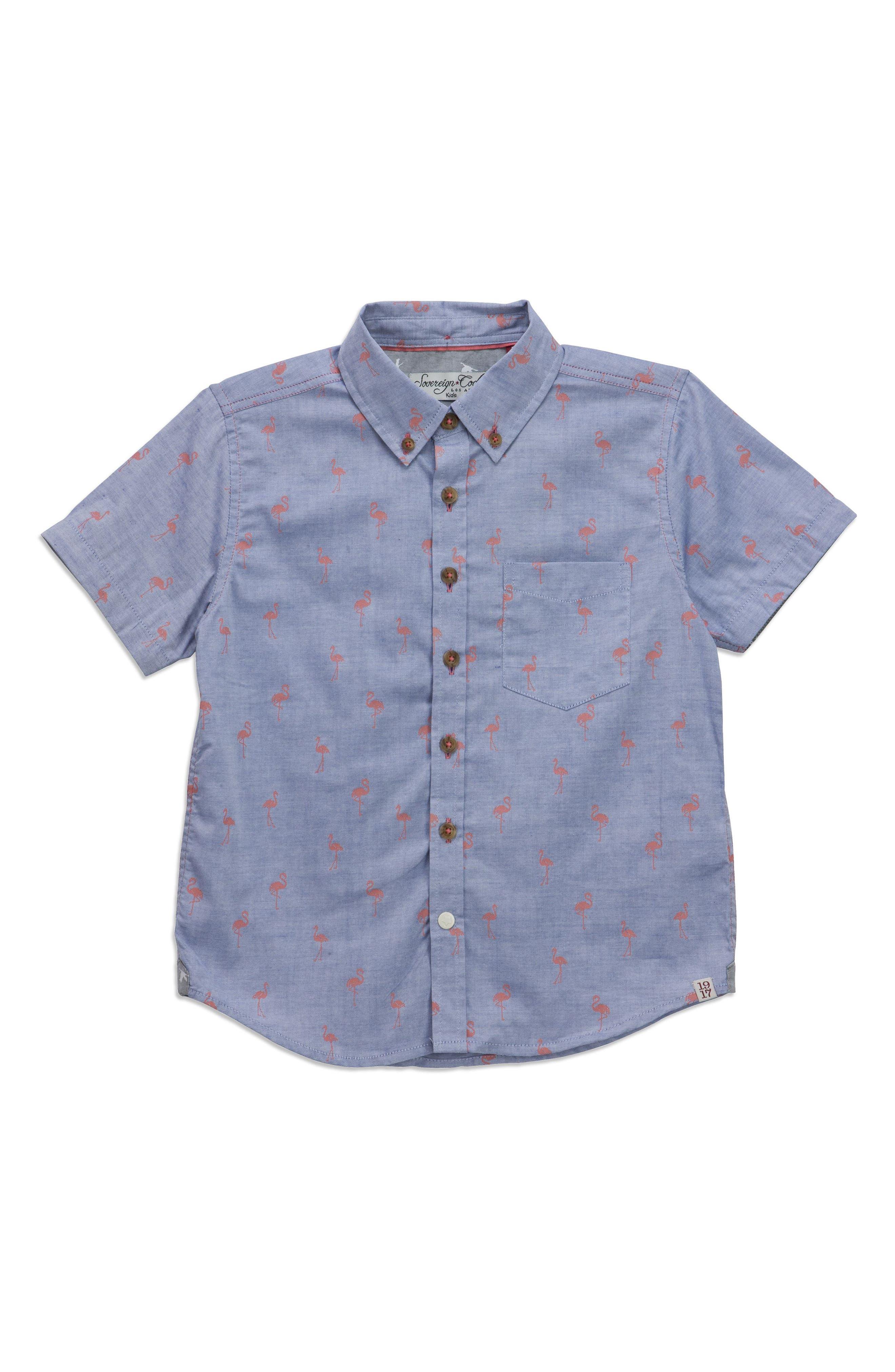 Crystal Cove Woven Shirt,                             Main thumbnail 1, color,                             Navy