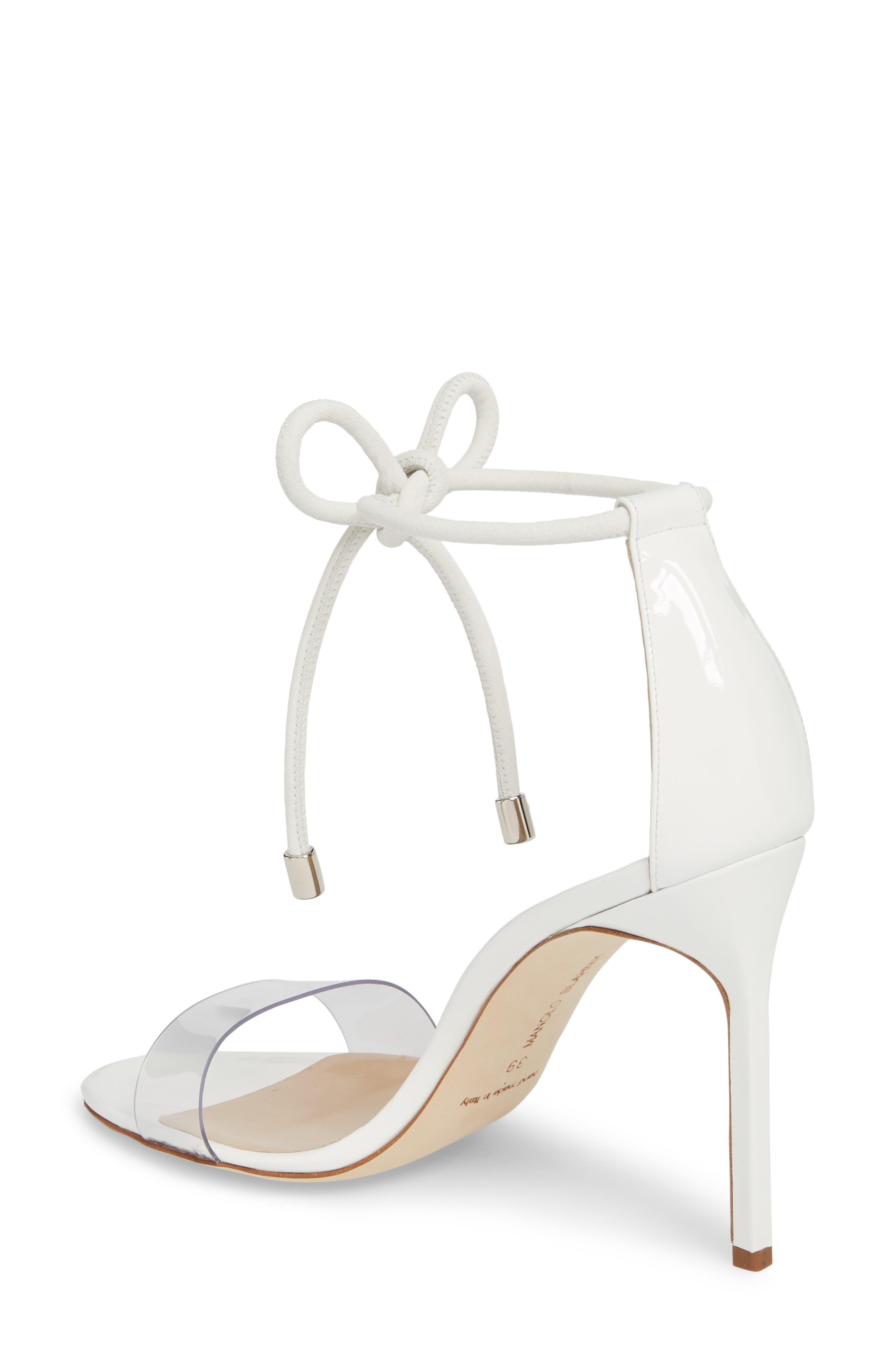 Estro Ankle Tie Sandal,                             Alternate thumbnail 2, color,                             White Patent