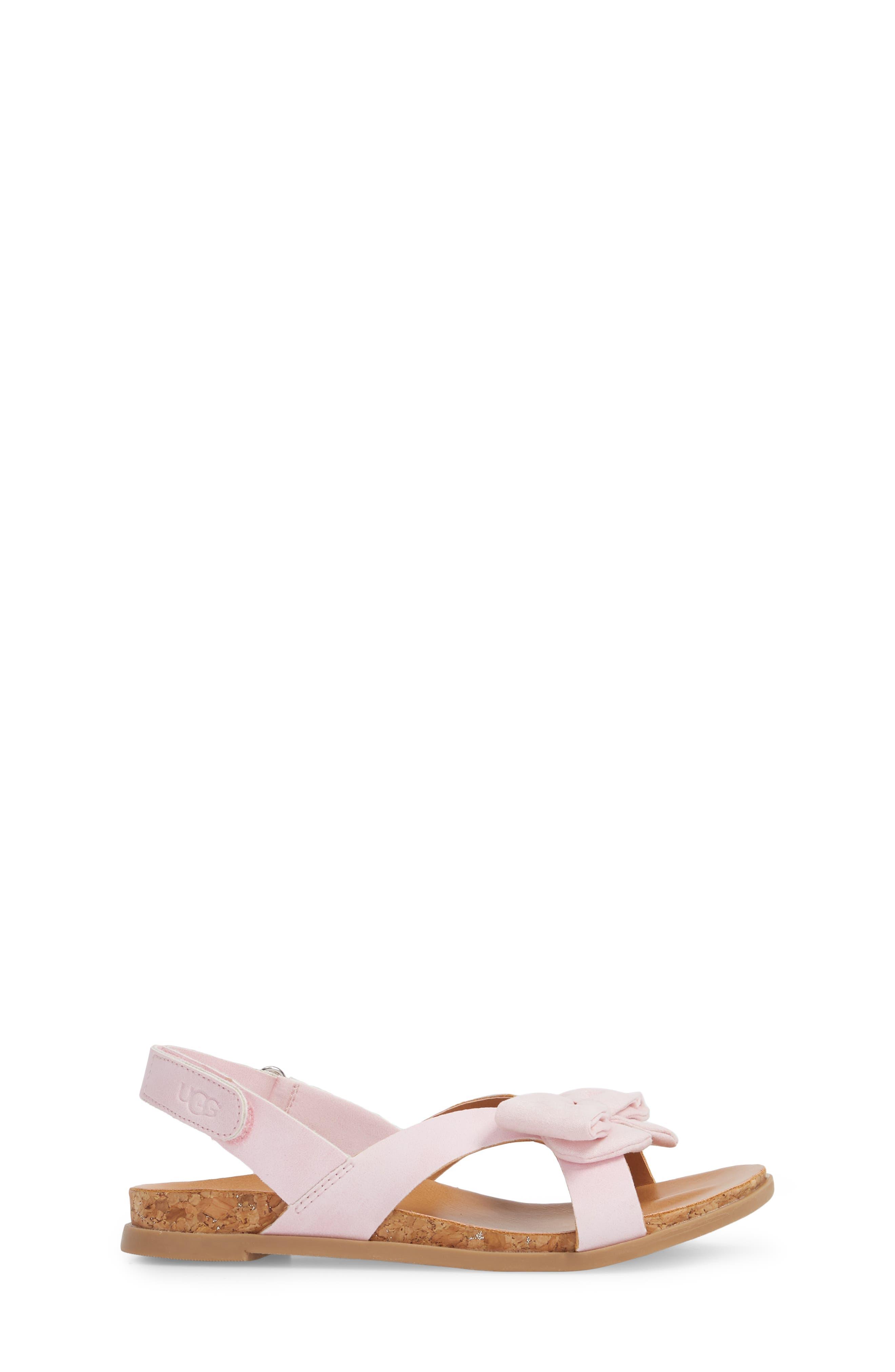 Fonda Sandal,                             Alternate thumbnail 3, color,                             Seashell Pink