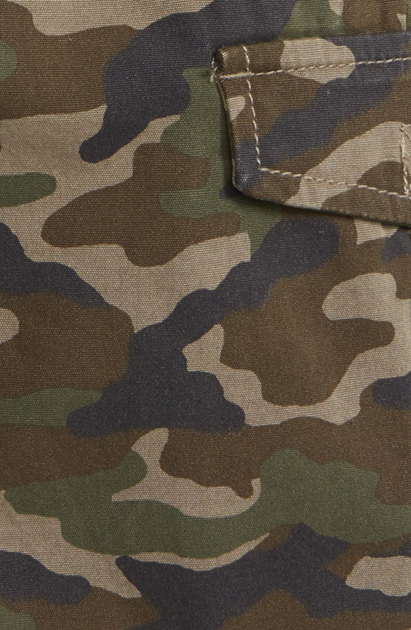 Camo Utility Shorts,                             Alternate thumbnail 2, color,                             Olive Brown Camo
