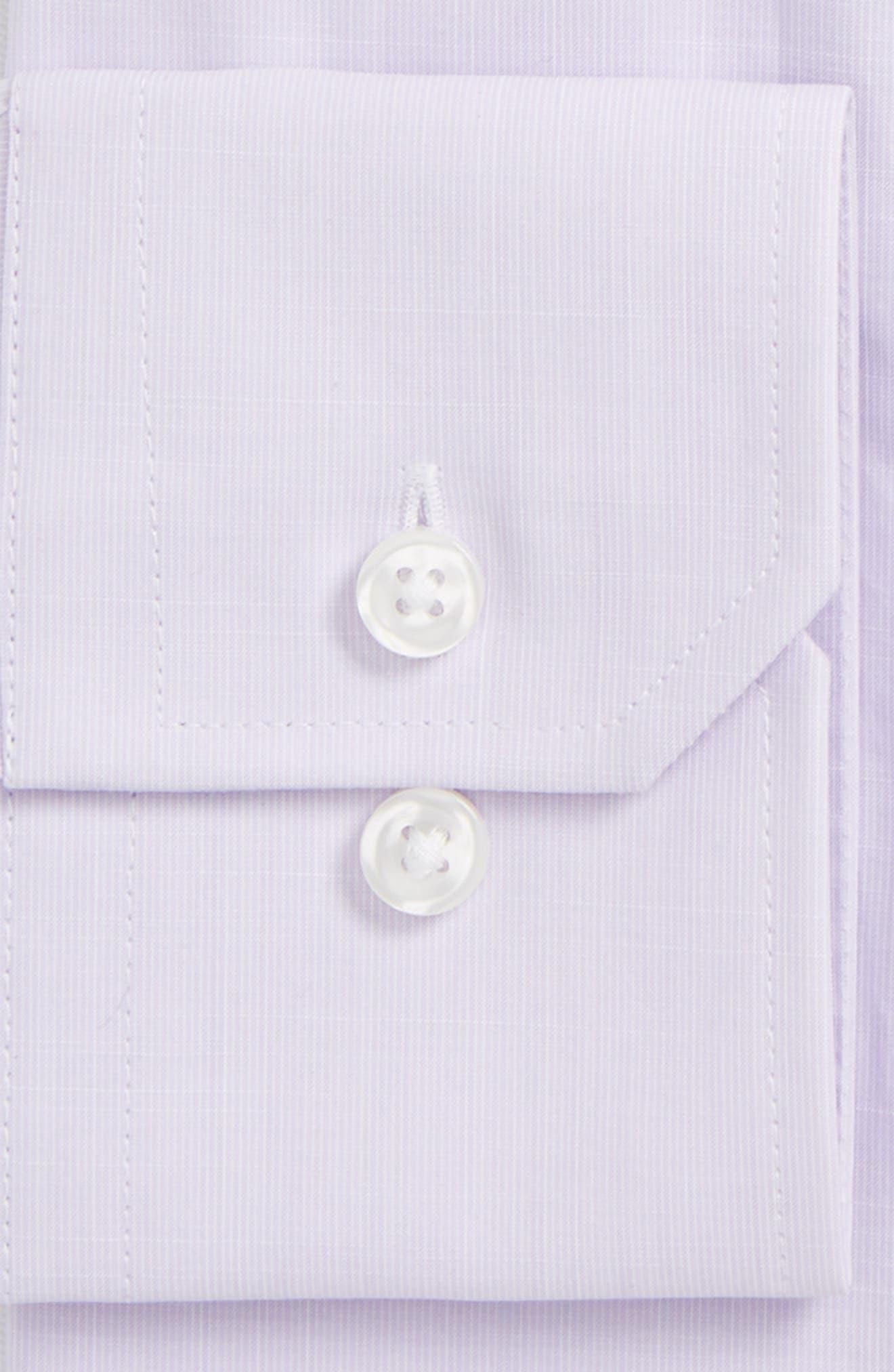 Espirit Trim Fit Solid Dress Shirt,                             Alternate thumbnail 2, color,                             Lavender Solid