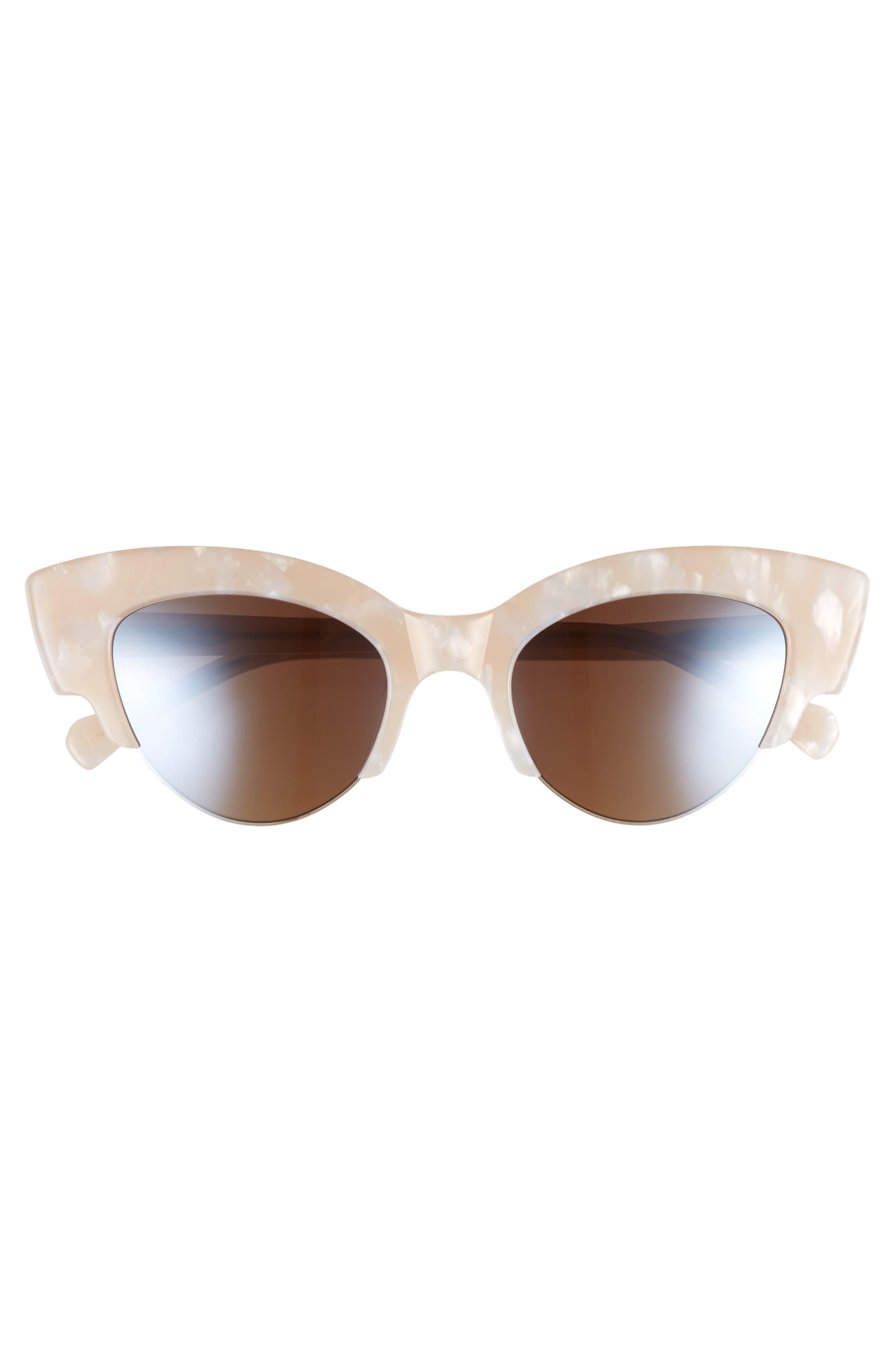 Winona Cat Eye Sunglasses,                             Alternate thumbnail 2, color,                             Marble/ Cream