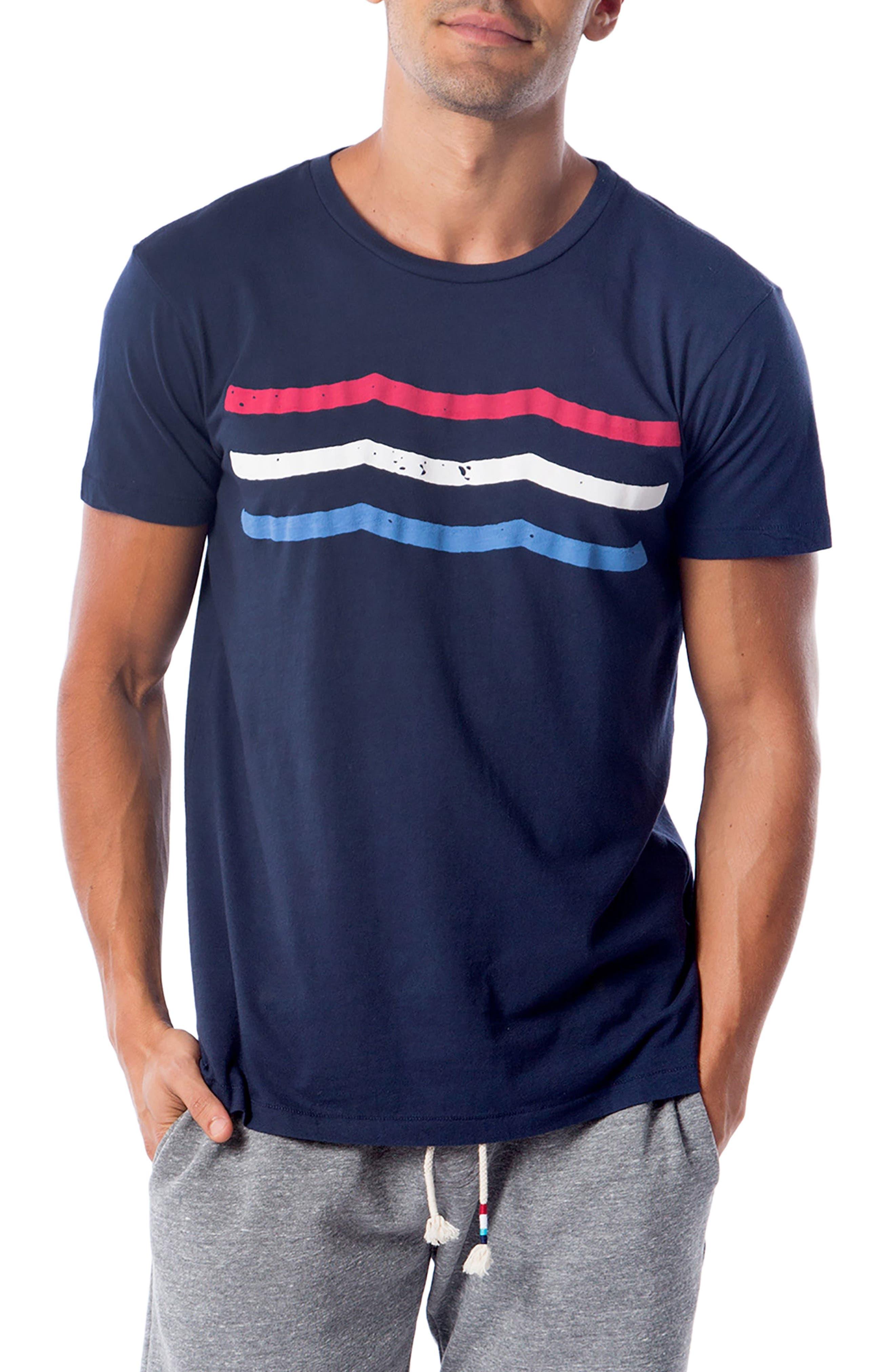 American Waves T-Shirt,                         Main,                         color, Indigo