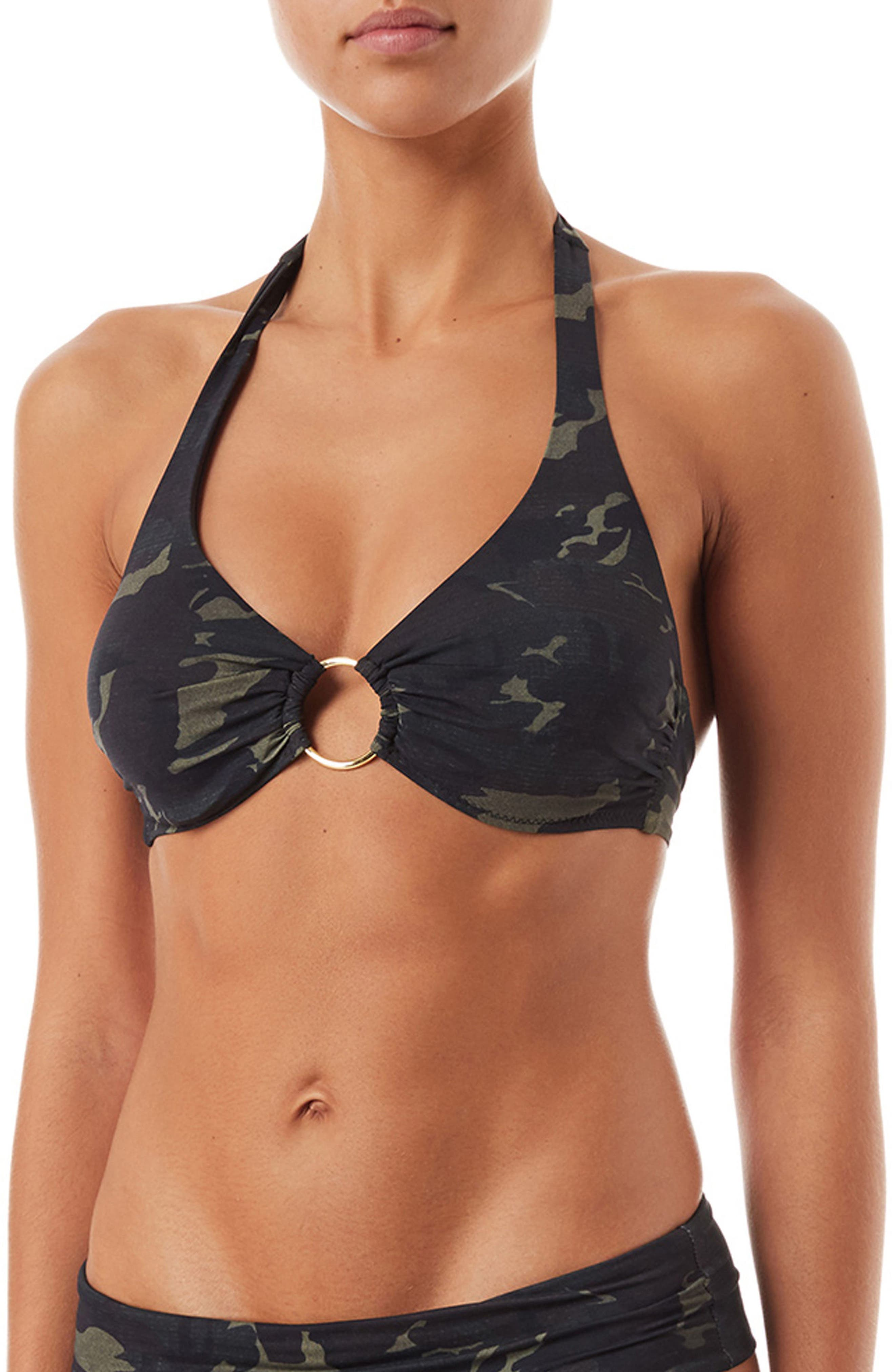 Brussels Underwire Bikini Top,                         Main,                         color, Camo
