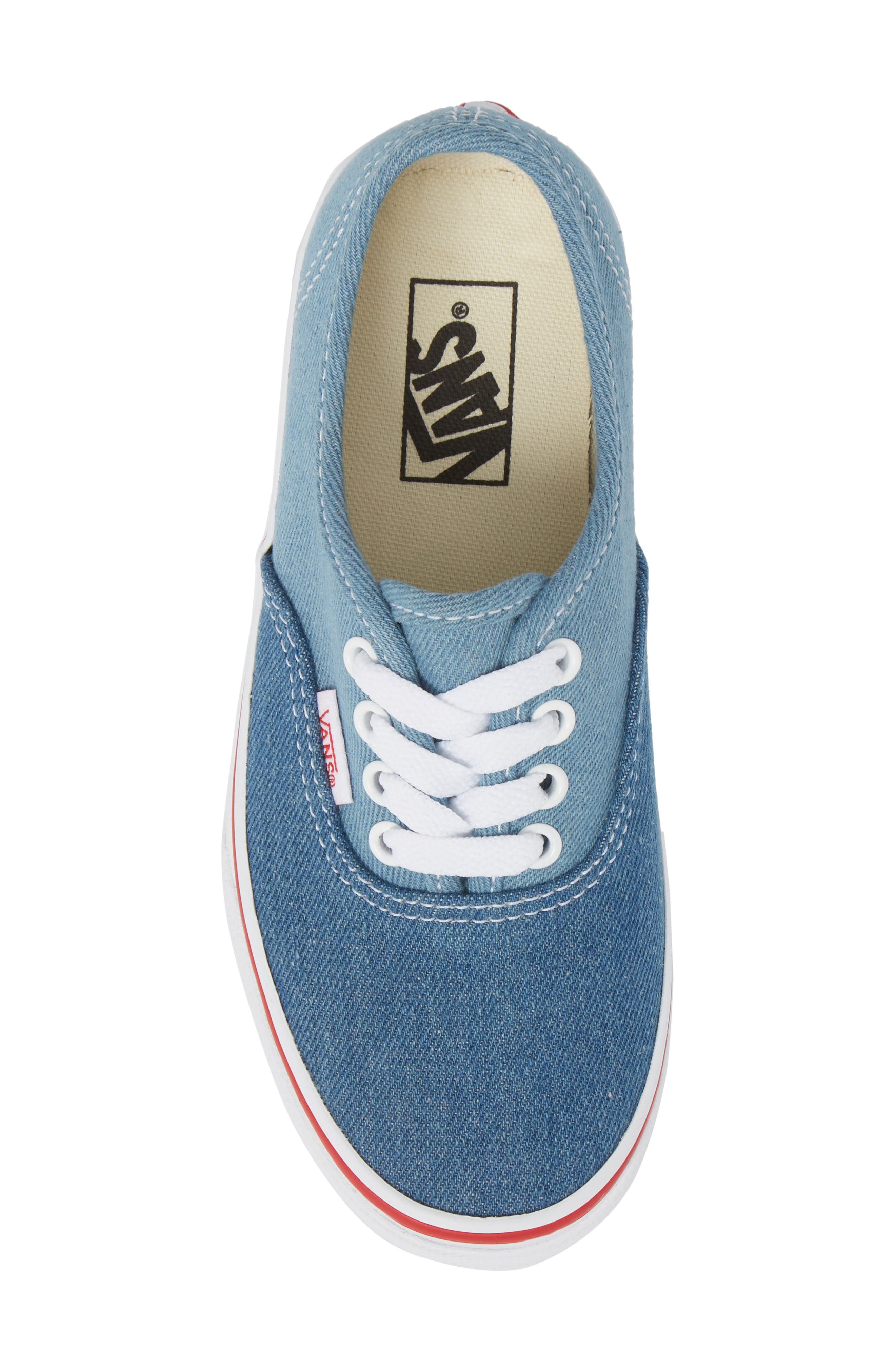 Authentic Sneaker,                             Alternate thumbnail 5, color,                             Blue/ White Denim Two-Tone