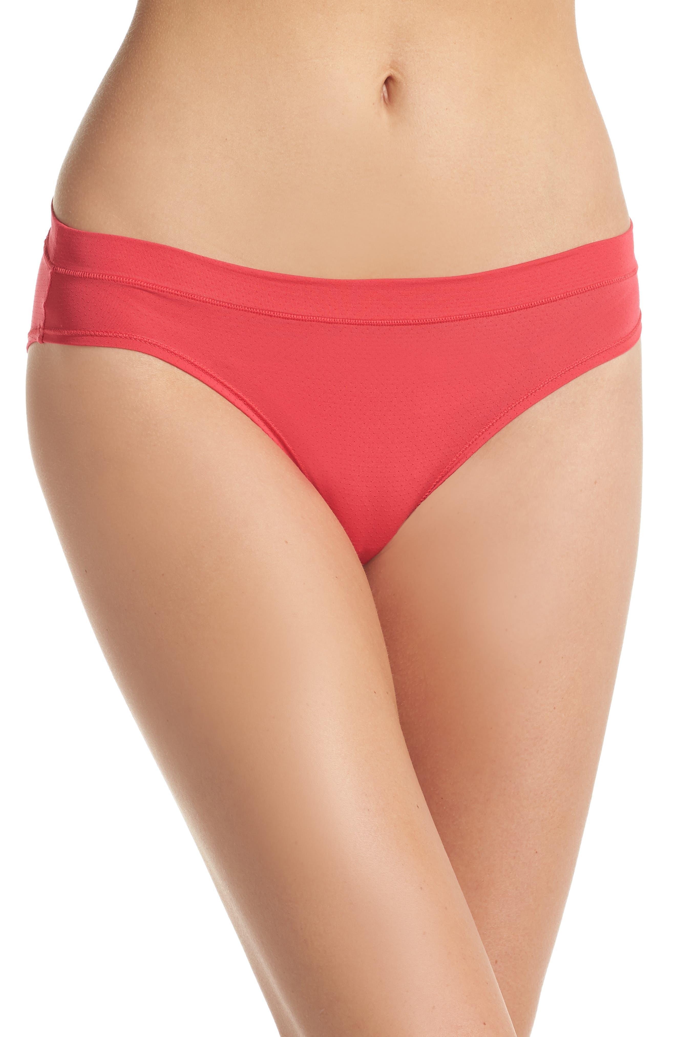 Mesh Active Bikini,                         Main,                         color, Red Hibiscus