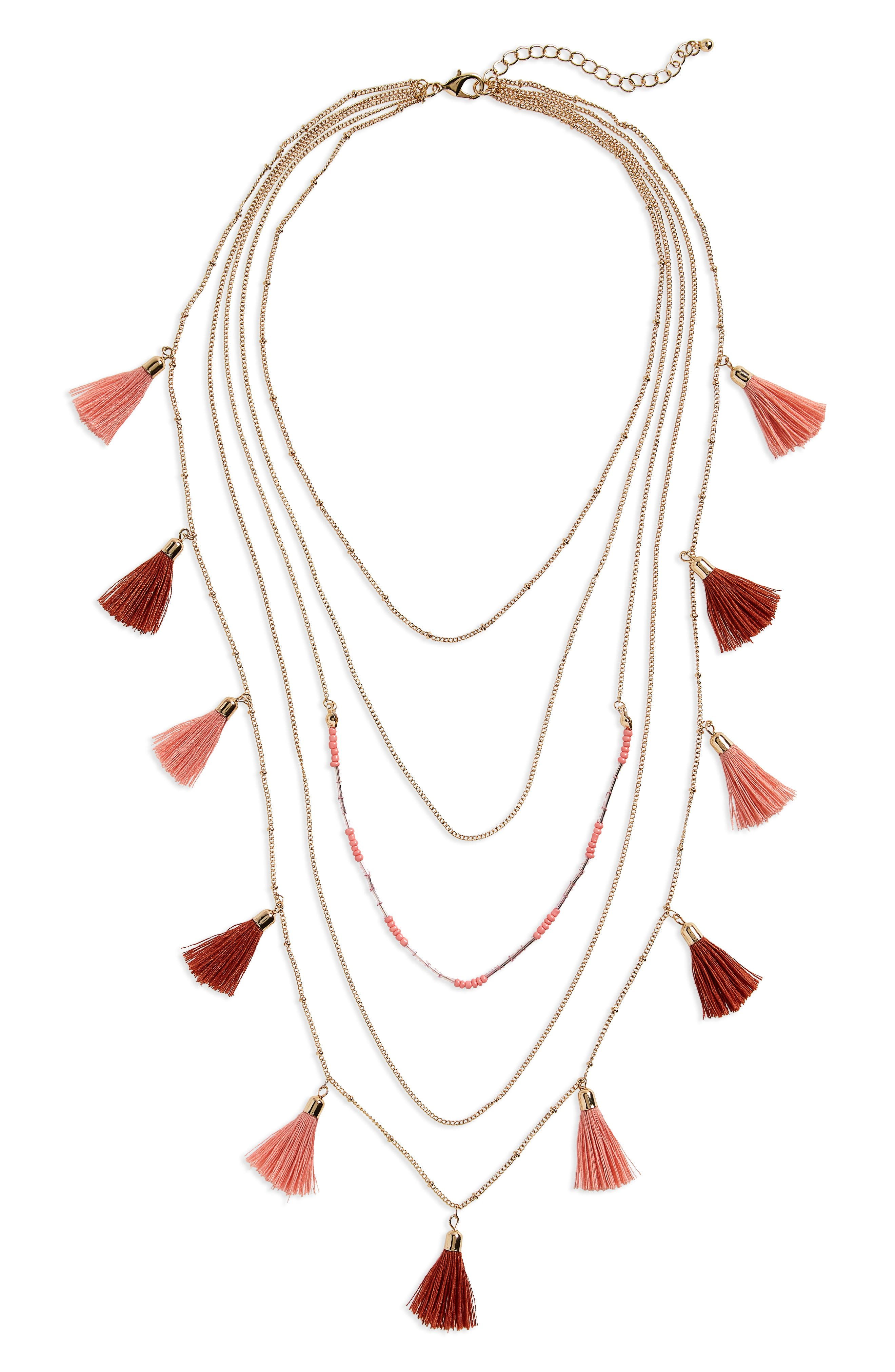 Panacea Layered Tassel Necklace