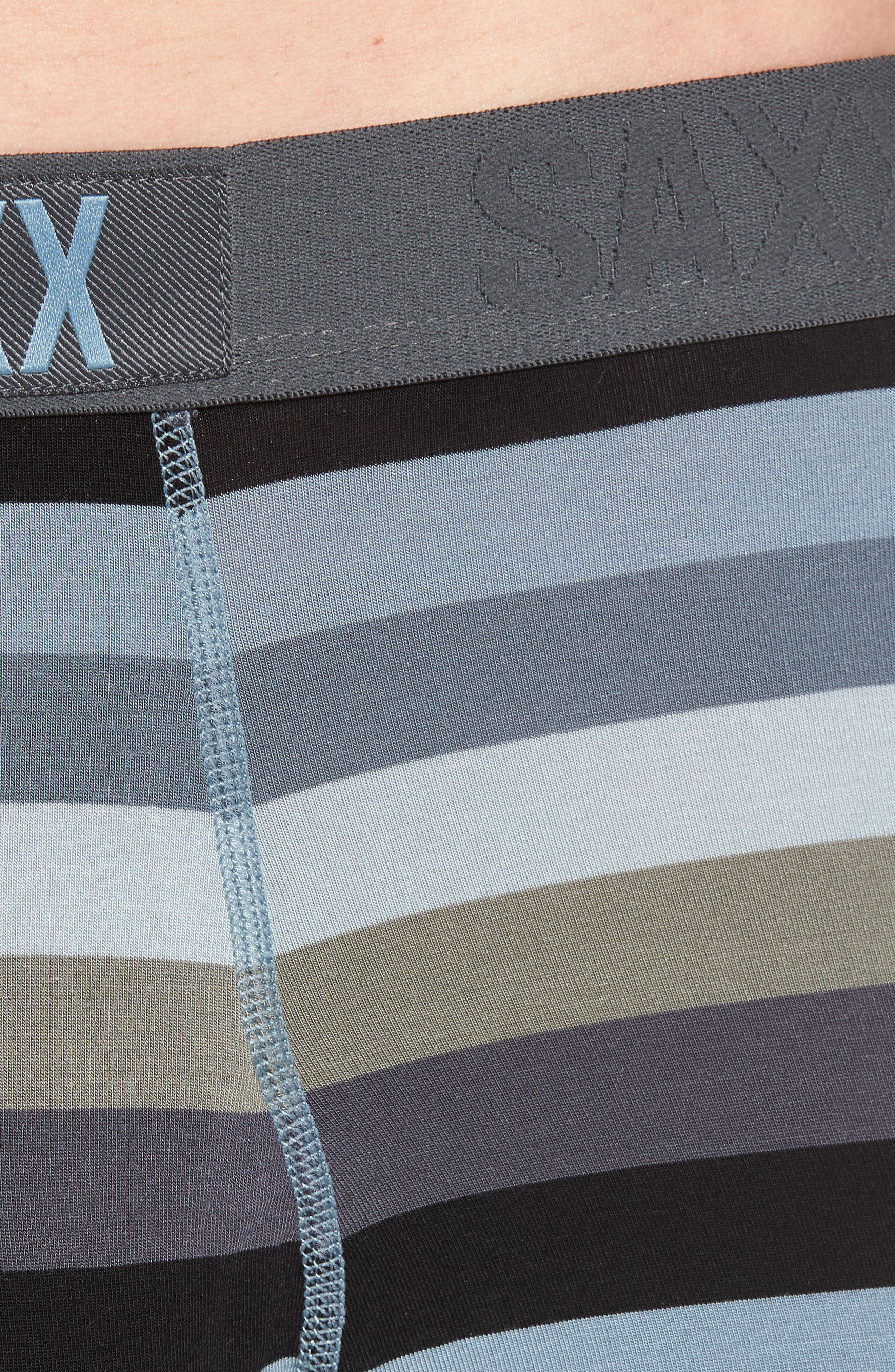 Stripe Boxer Brief,                             Alternate thumbnail 4, color,                             Dark Charcoal Stripe