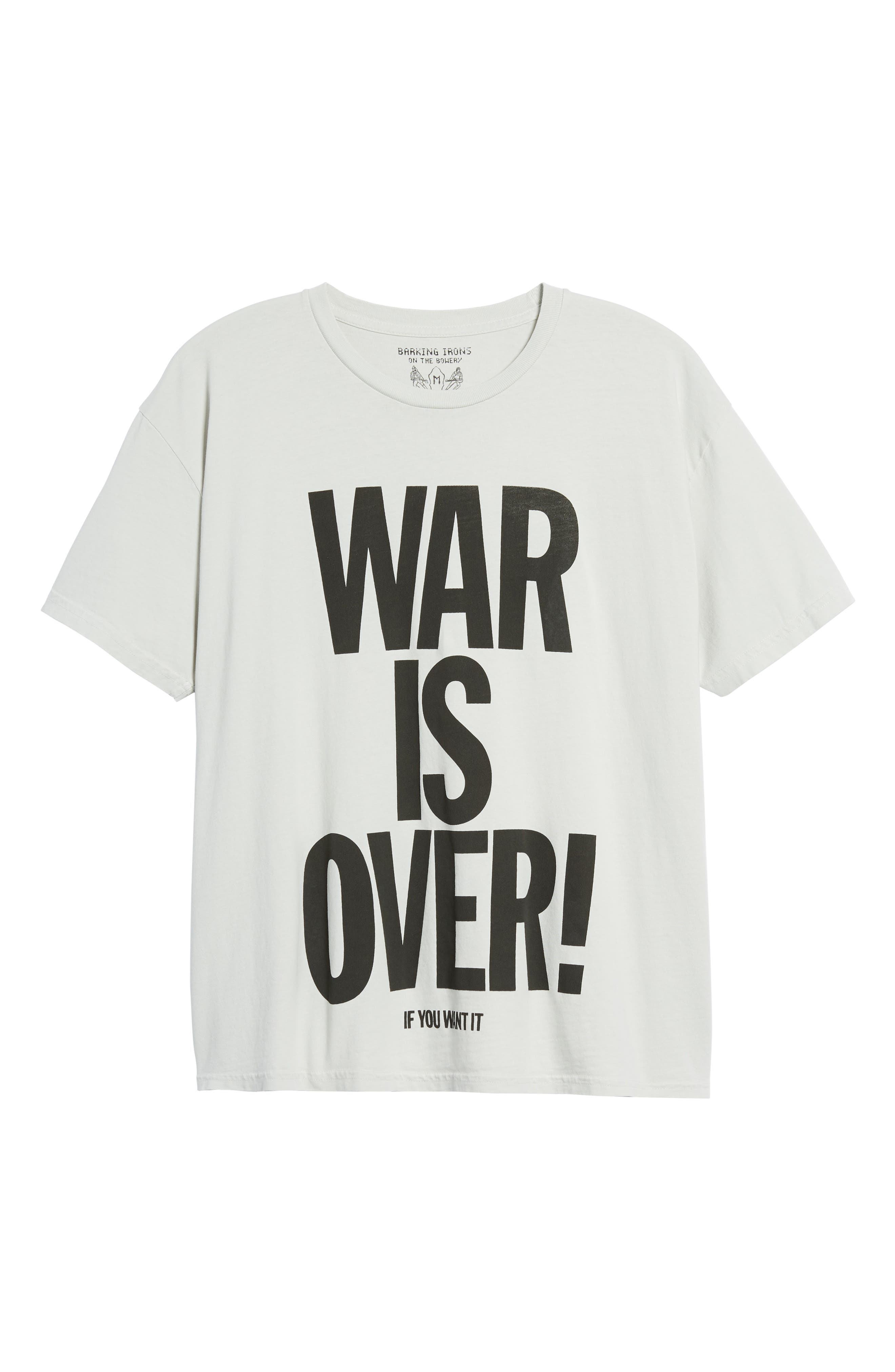 War Is Over T-Shirt,                             Alternate thumbnail 6, color,                             White