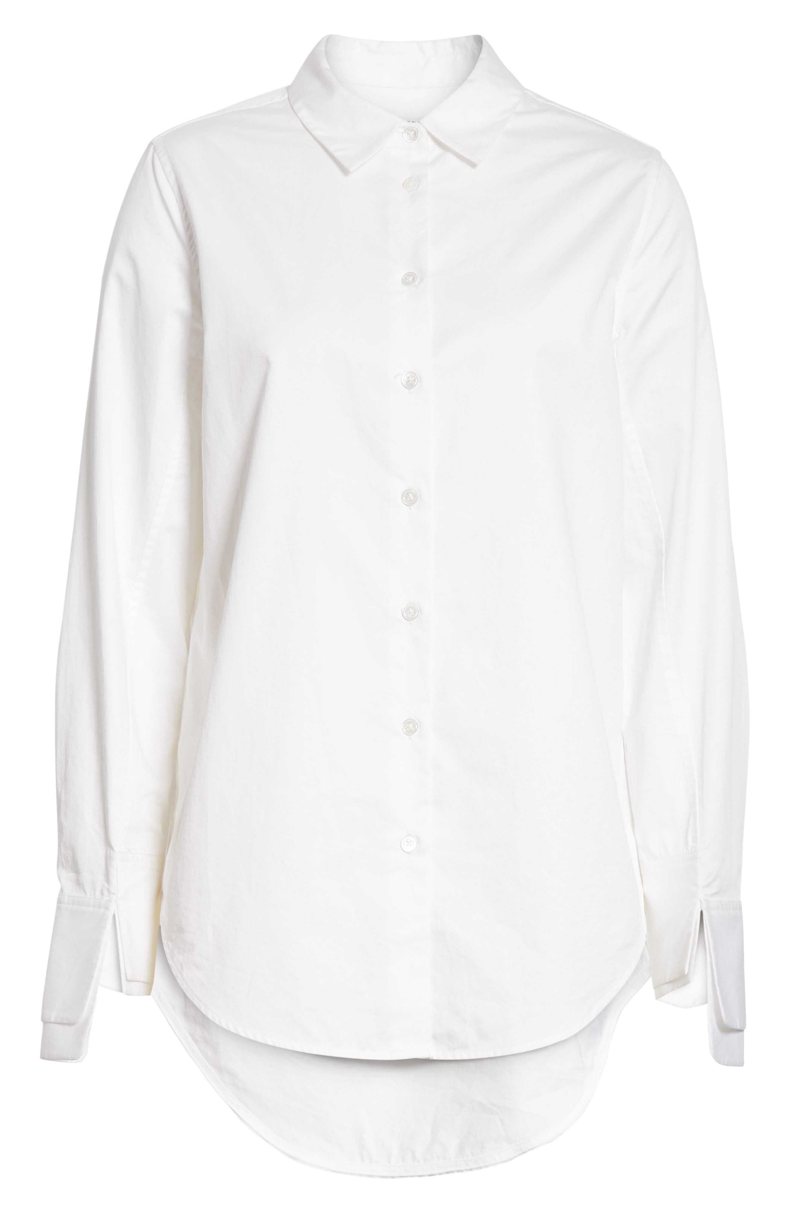 Essential Layered Split Cuff Blouse,                             Alternate thumbnail 6, color,                             Bright White