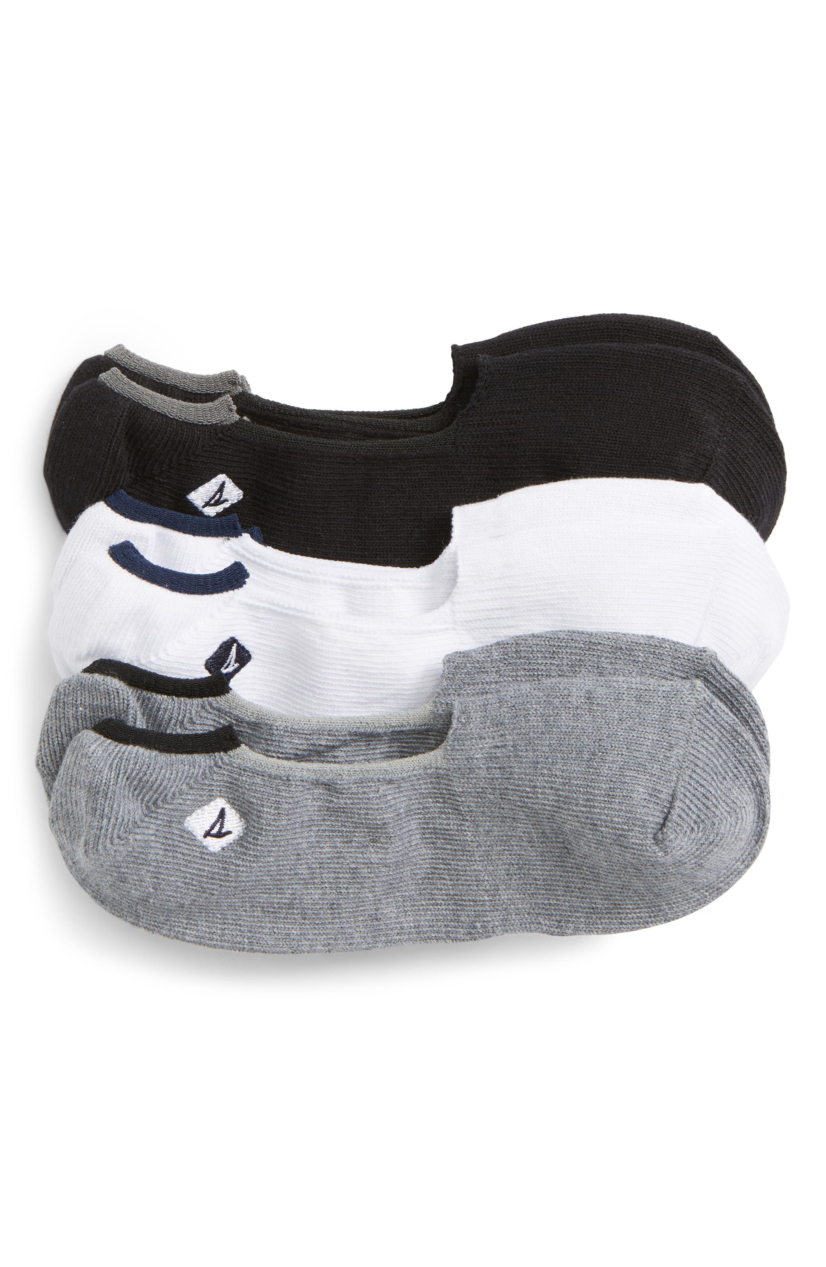 Skimmer 3-Pack Liner Socks,                         Main,                         color, Charcoal Heather/ Black