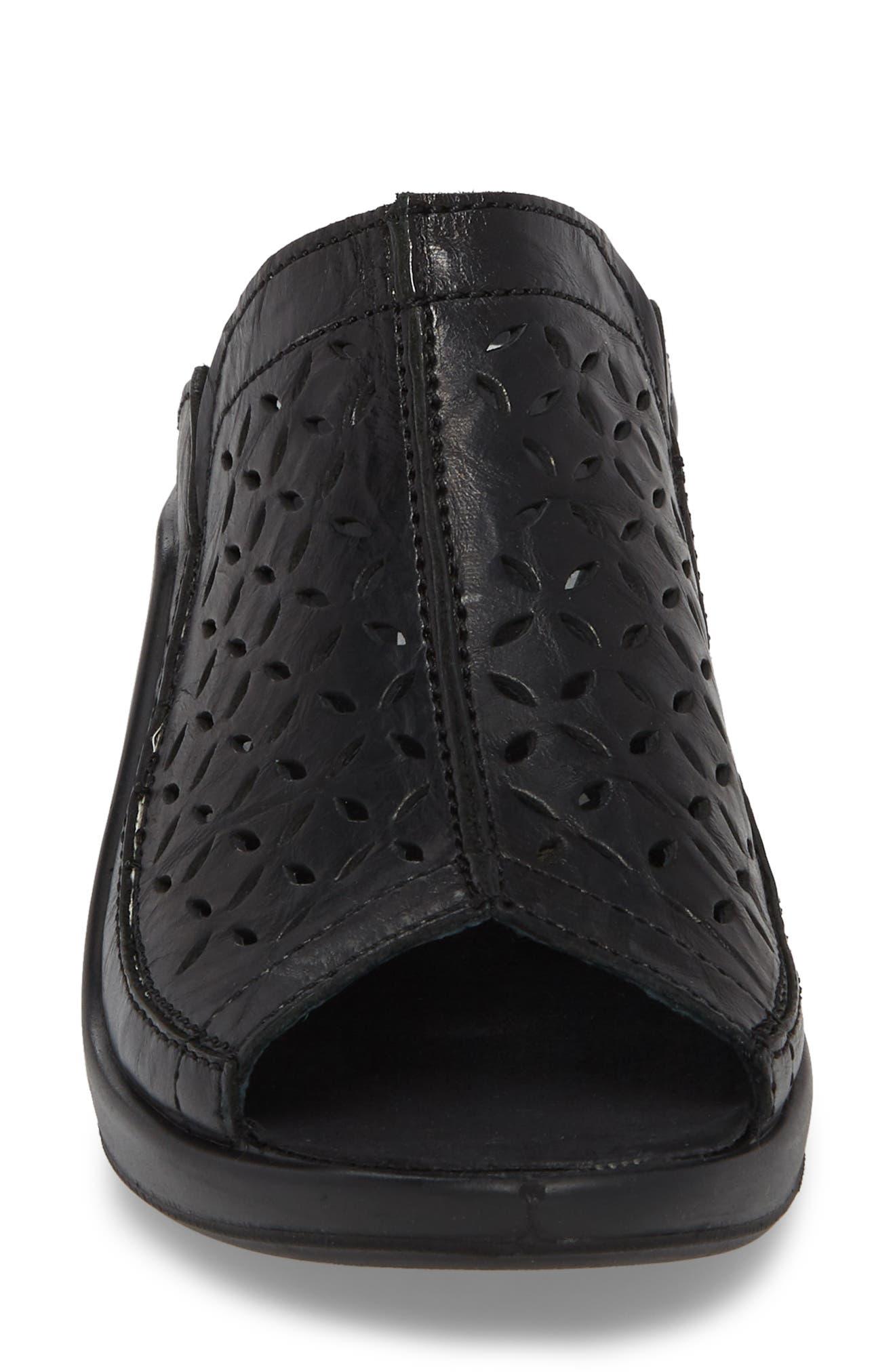 Mokassetta 326 Mule,                             Alternate thumbnail 4, color,                             Black Leather