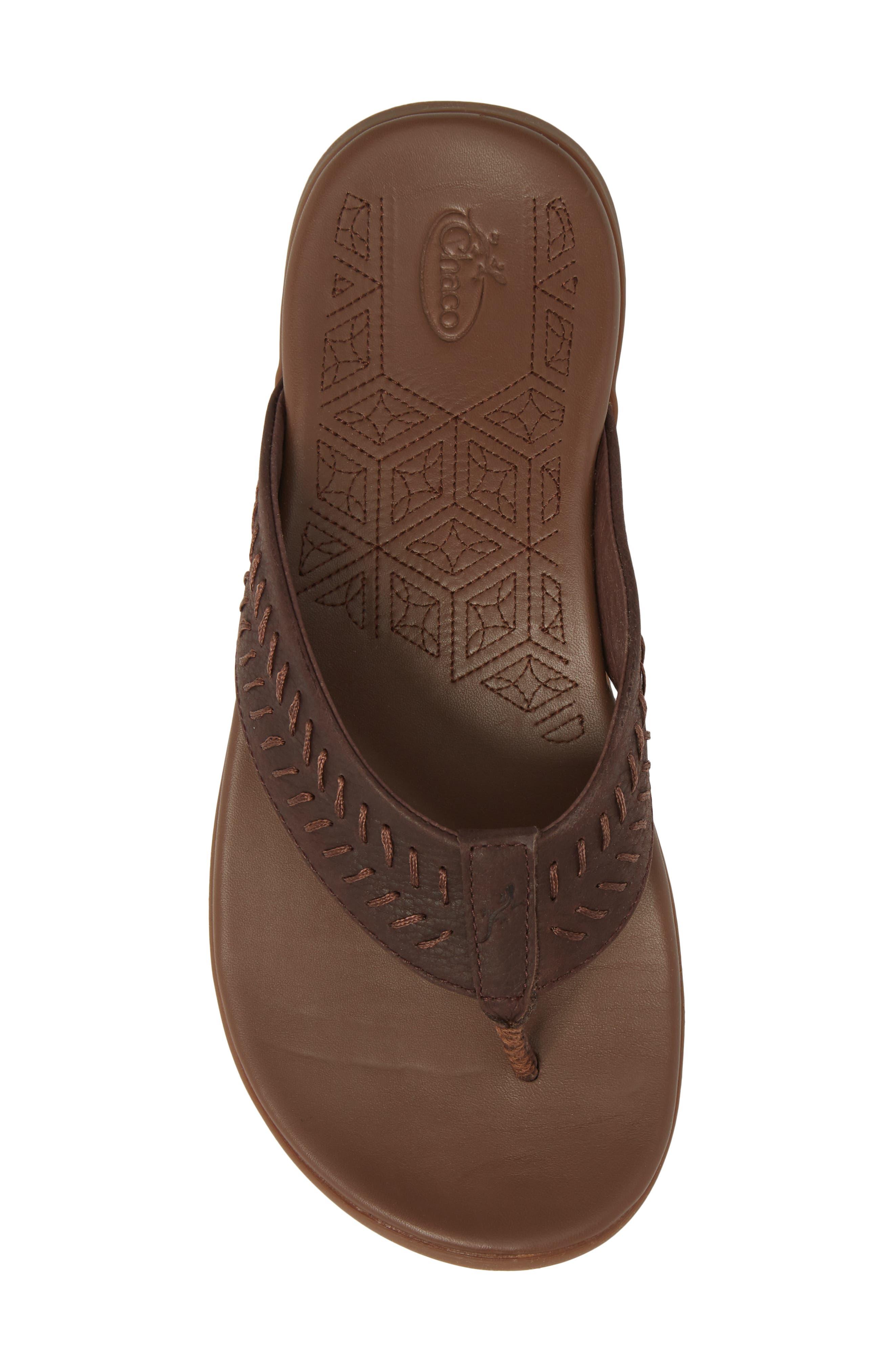 Jackson Flip Flop,                             Alternate thumbnail 5, color,                             Java Leather