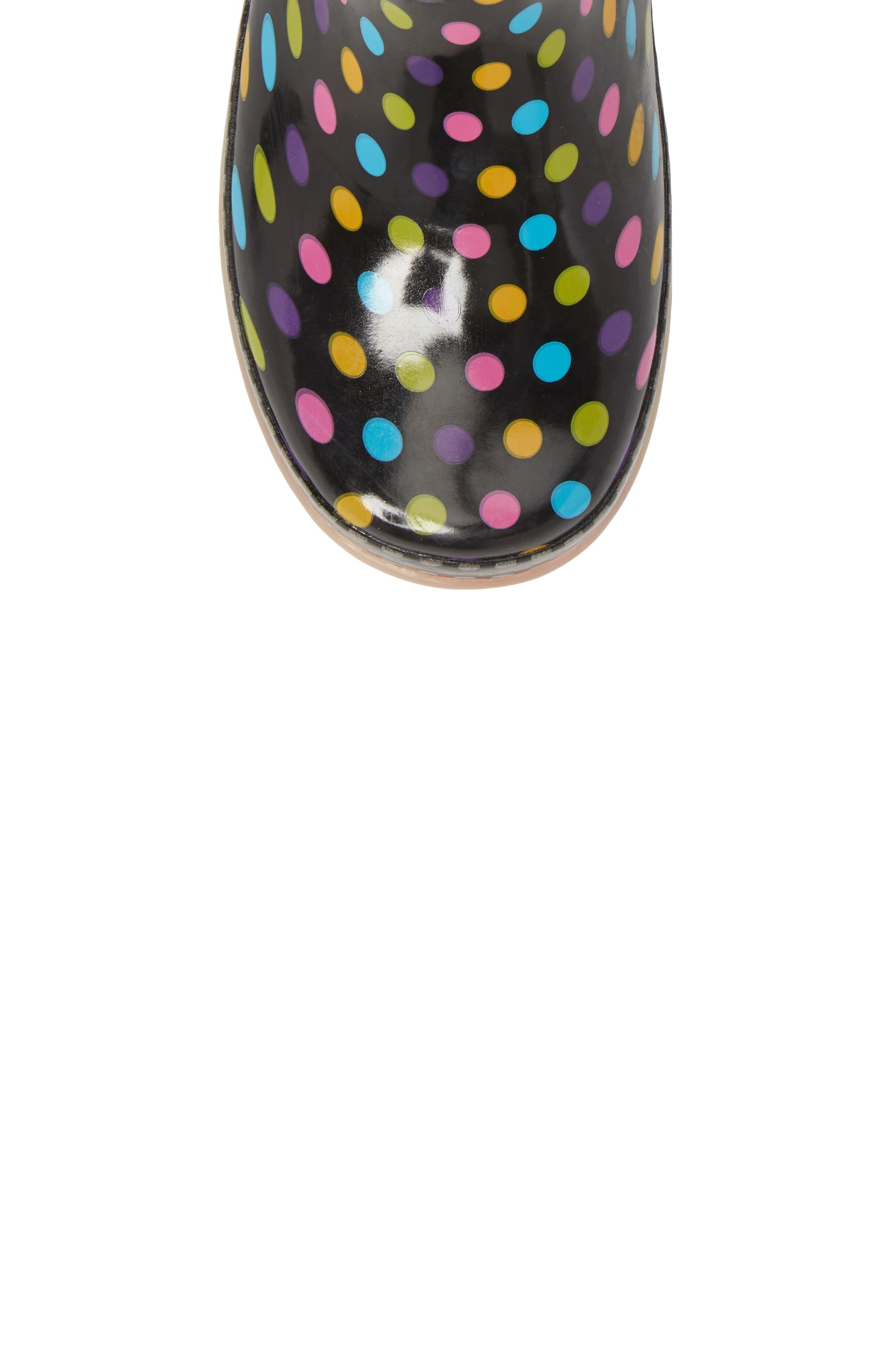 Digital Diva Dot LED Rain Boot,                             Alternate thumbnail 6, color,                             Multi