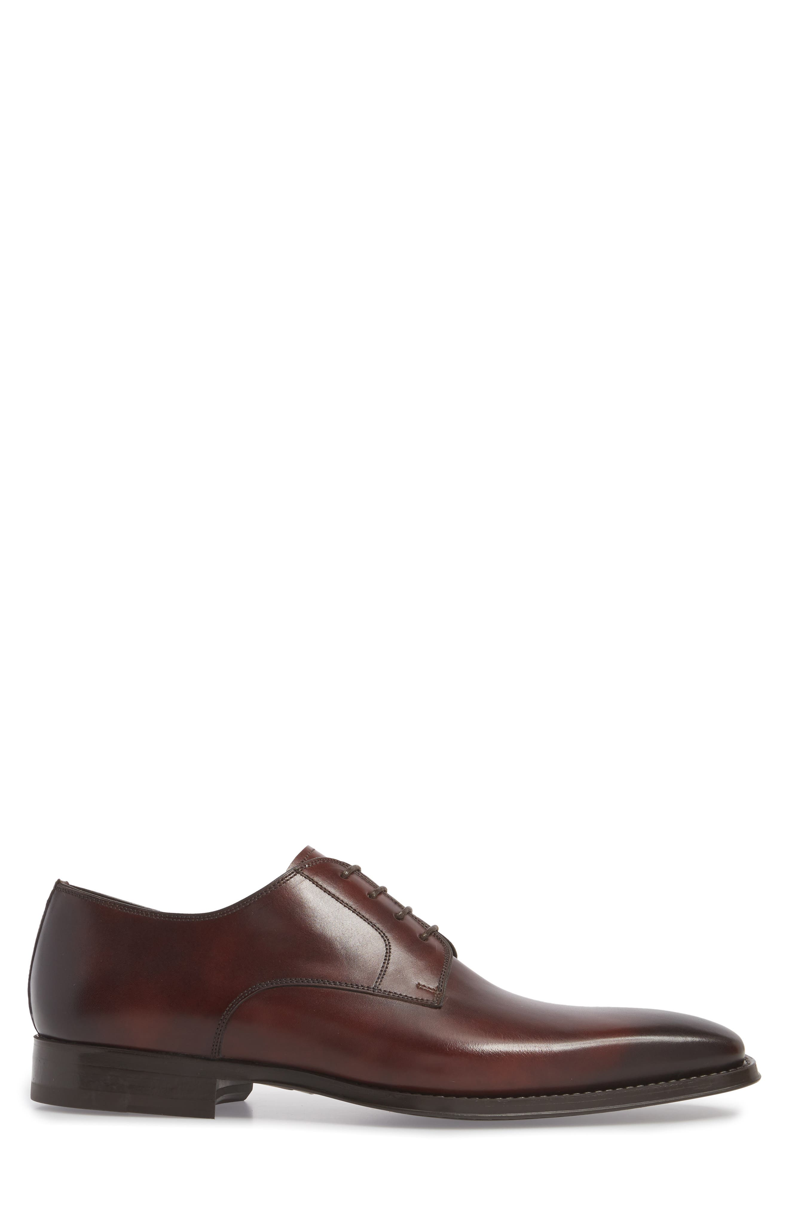 Colo II Plain Toe Derby,                             Alternate thumbnail 3, color,                             Mid Brown Leather