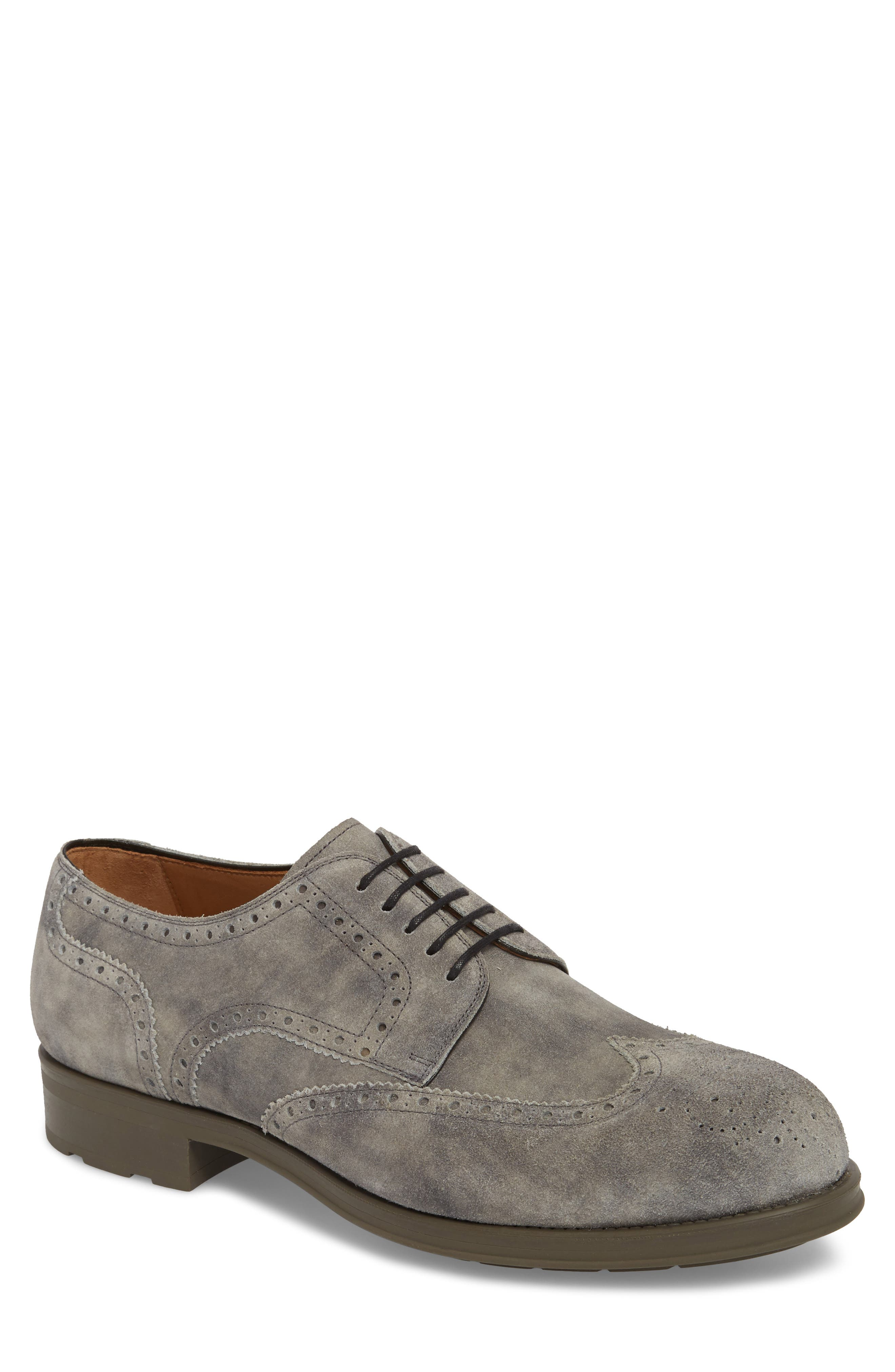 Tormo Wingtip,                             Main thumbnail 1, color,                             Grey Leather