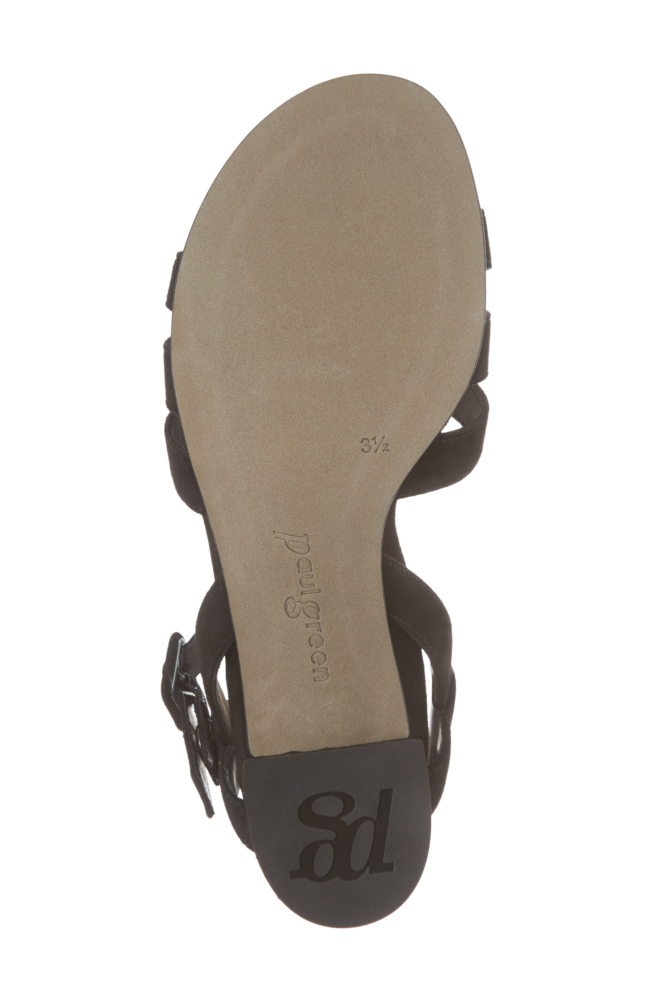 Rosemary Sandal,                             Alternate thumbnail 6, color,                             Black Suede