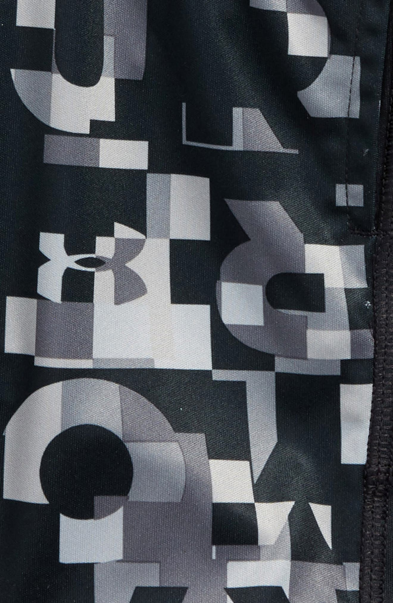 Wordmark Stunt Athletic HeatGear<sup>®</sup> Shorts,                             Alternate thumbnail 3, color,                             Anthracite