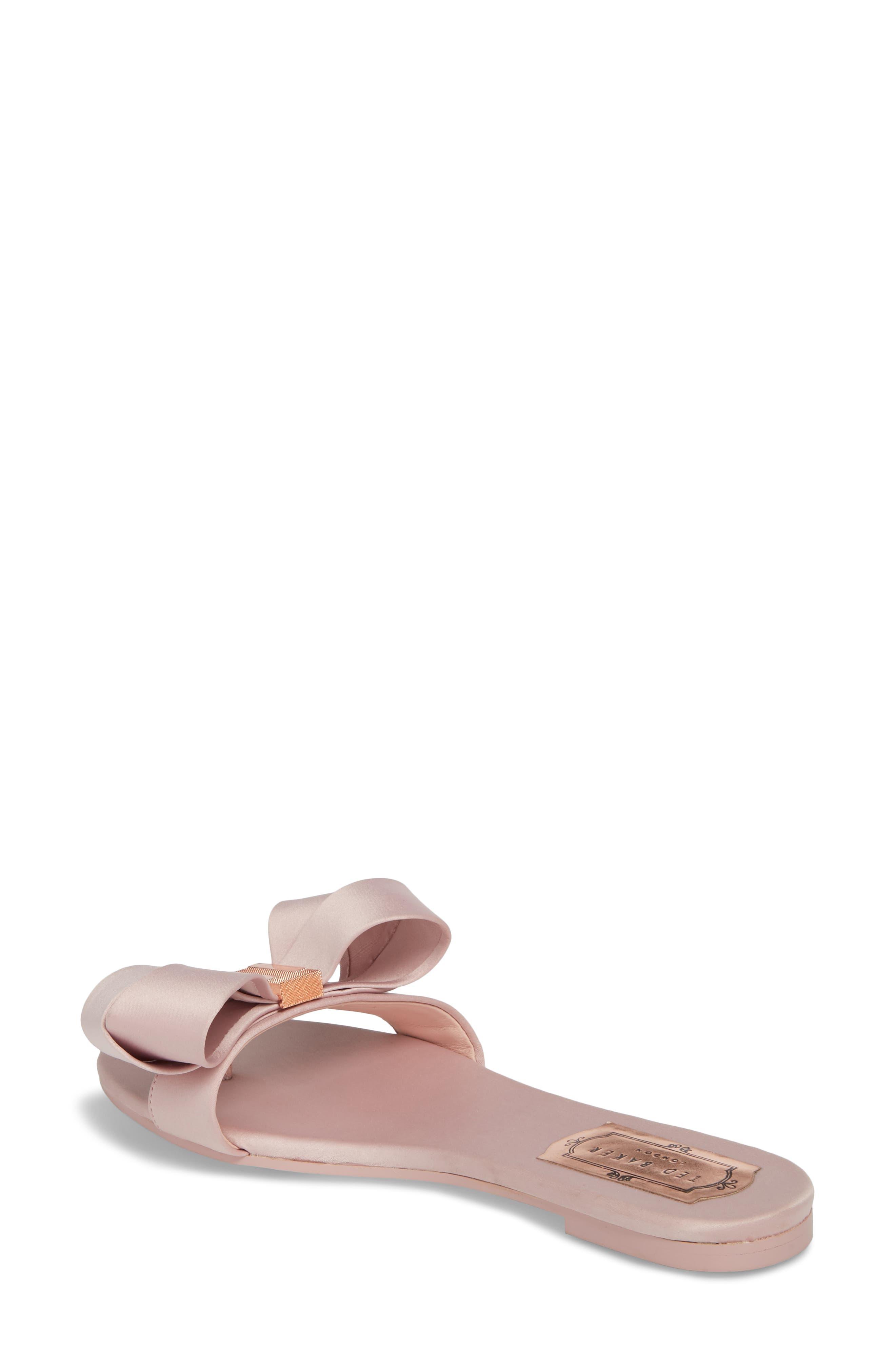 Slide Sandal,                             Alternate thumbnail 2, color,                             Light Pink Satin