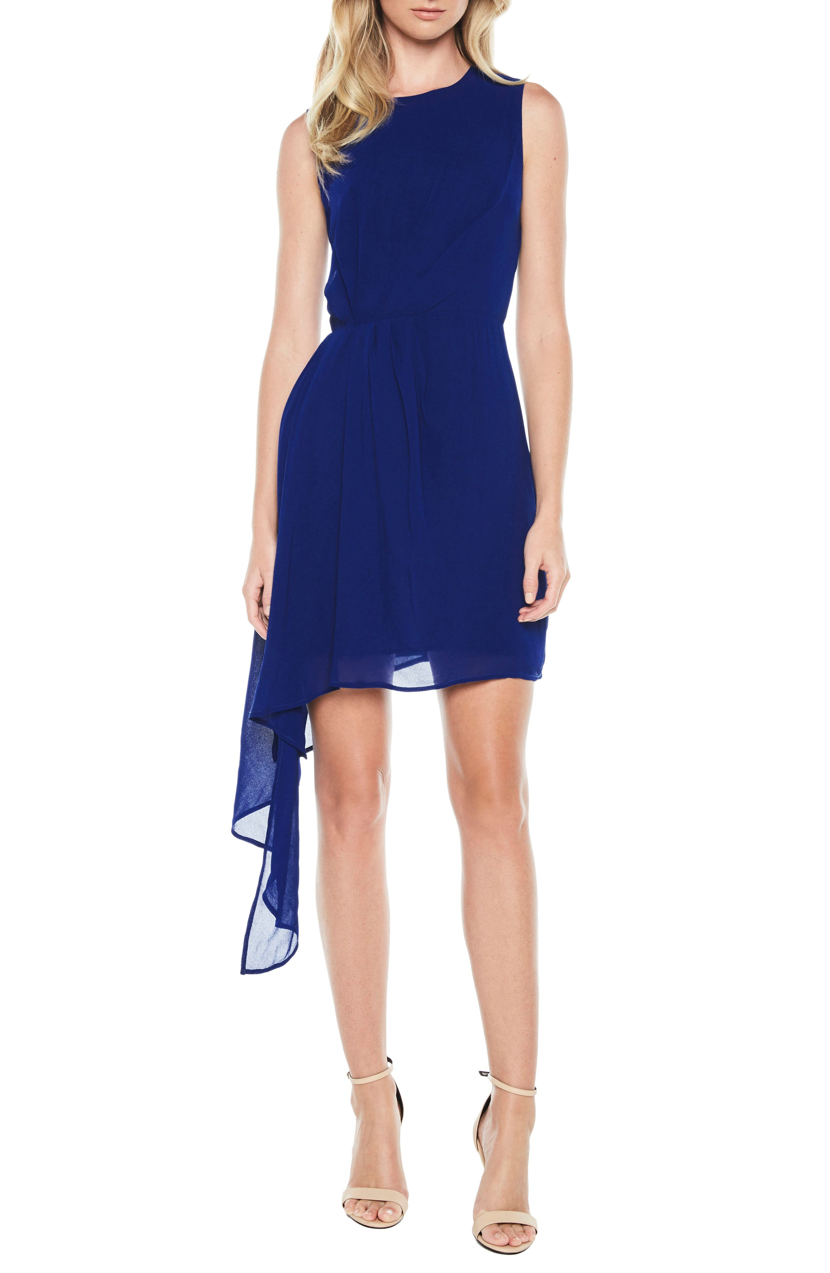Stilla Asymmetric Hem Dress,                         Main,                         color, Cobalt