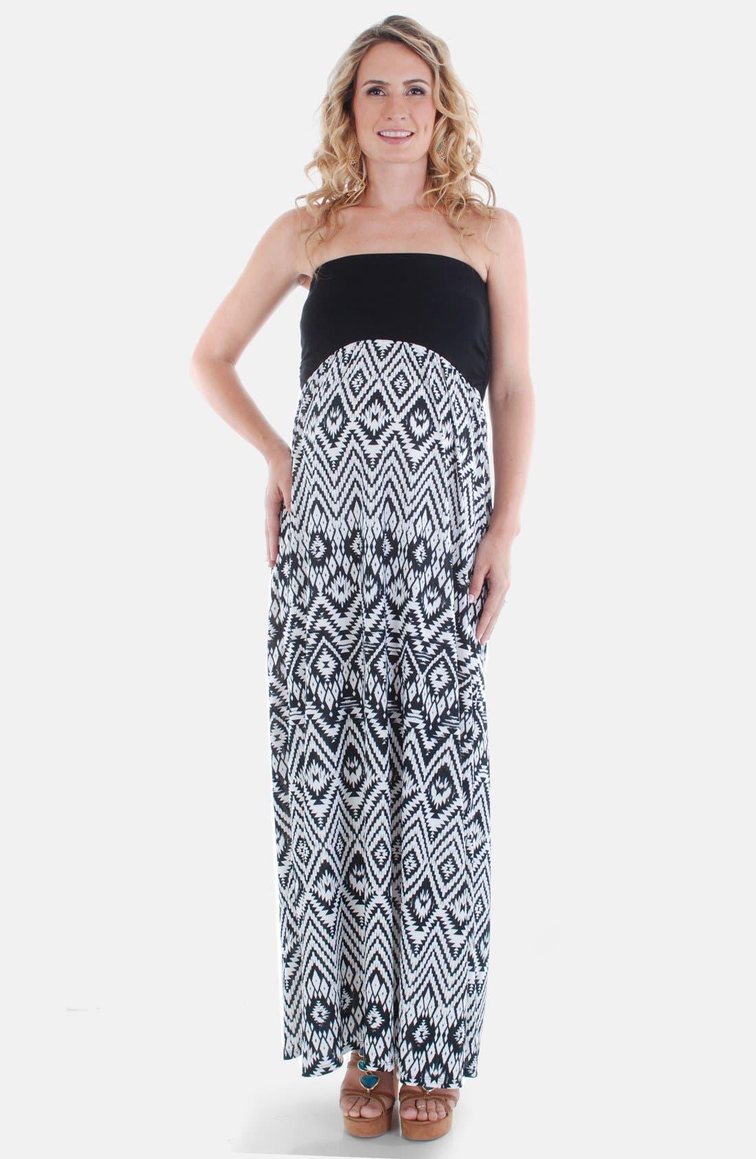 Alternate Image 1 Selected - Everly Grey 'Grace' Strapless Maternity Dress