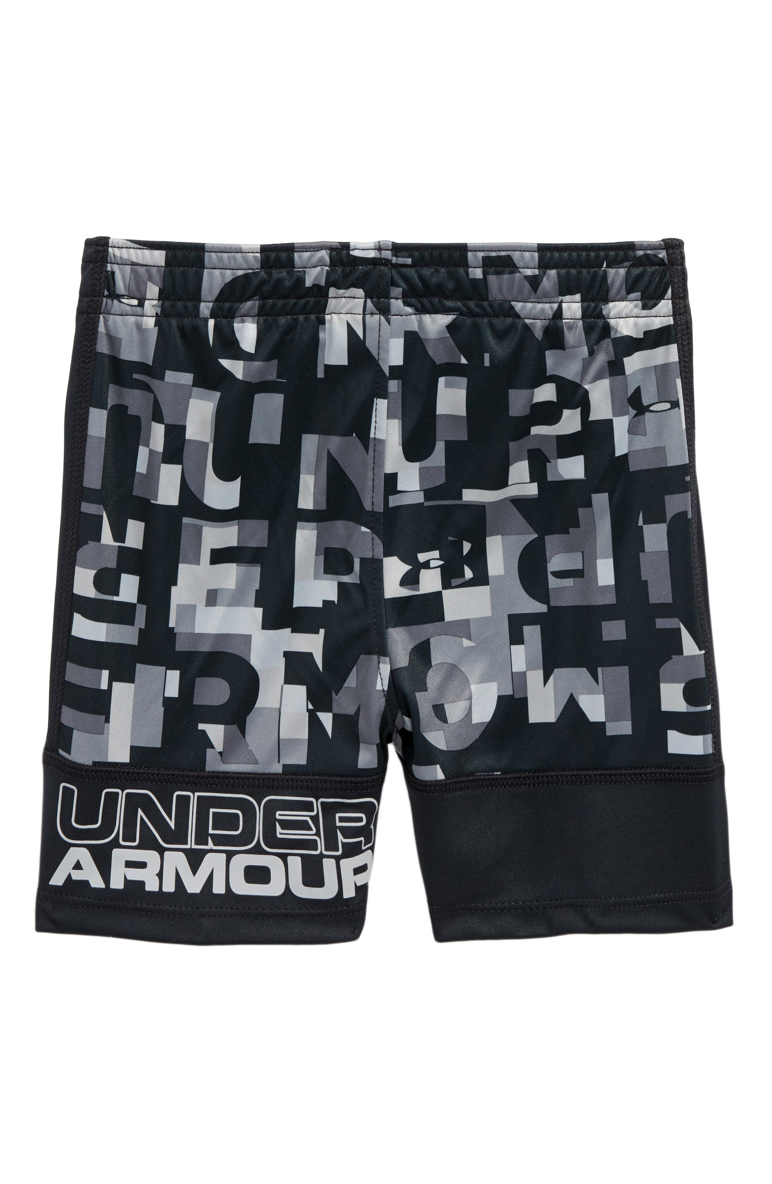 Wordmark Stunt Athletic HeatGear<sup>®</sup> Shorts,                             Alternate thumbnail 2, color,                             Anthracite