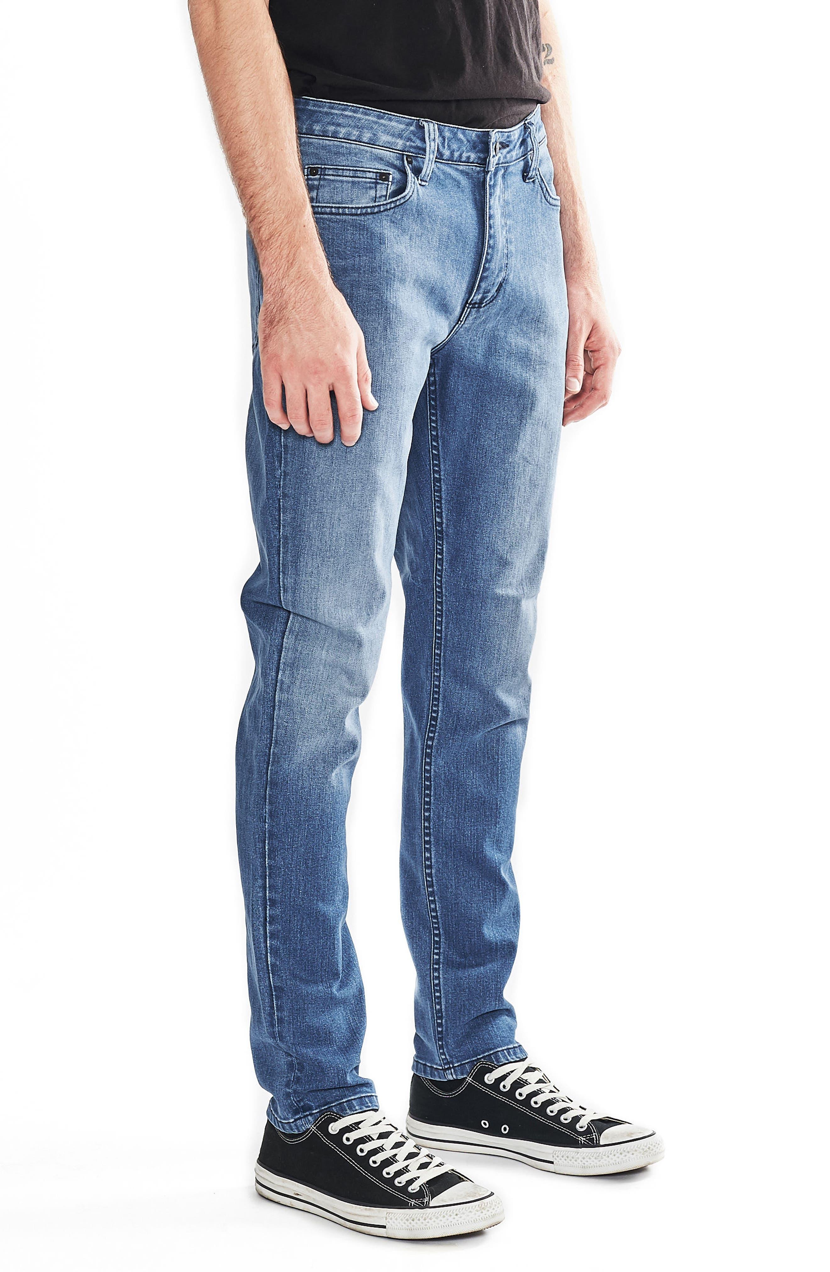 Tim Slims Slim Fit Jeans,                             Alternate thumbnail 4, color,                             Safety Beach Blue