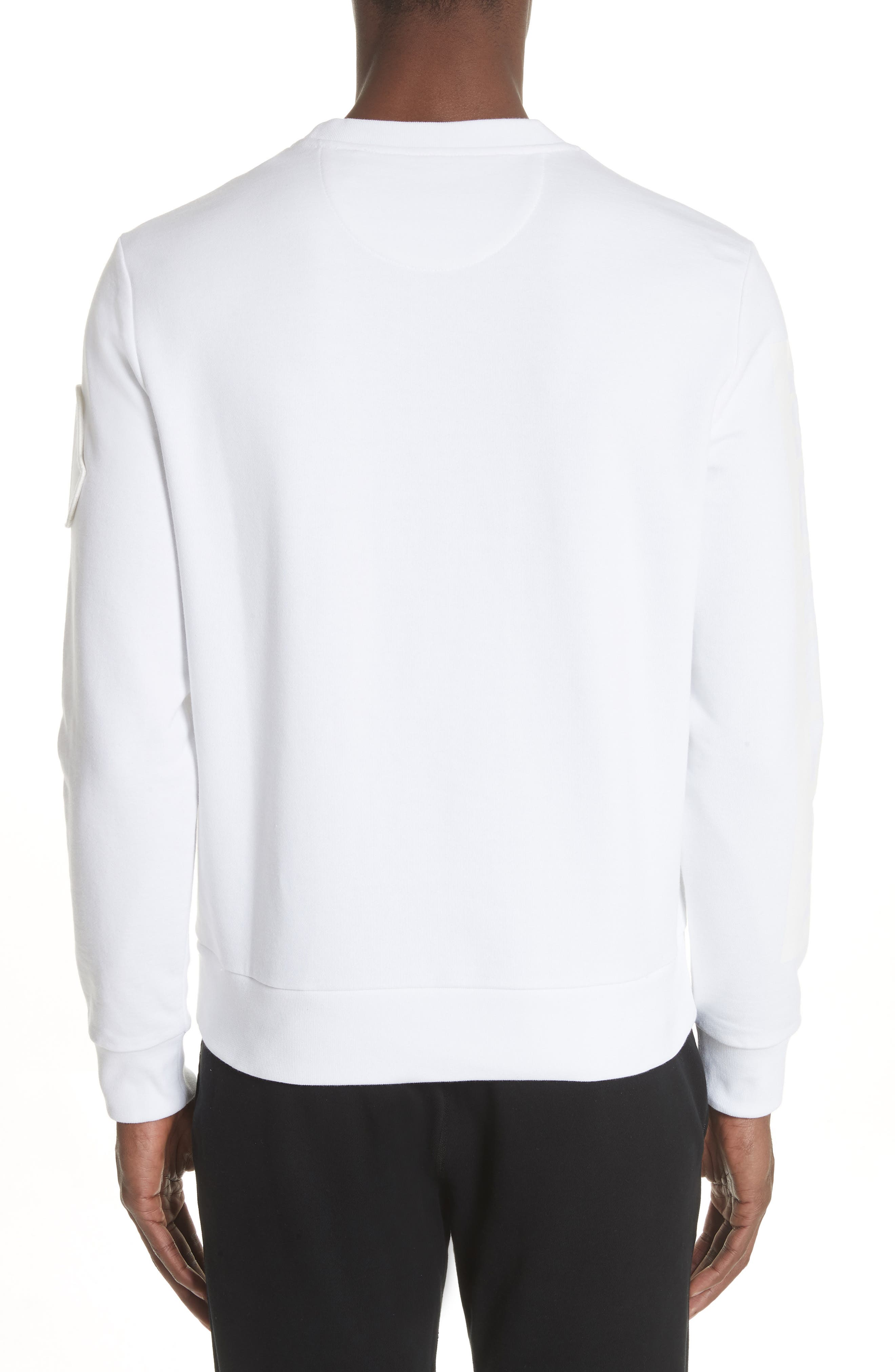 Logo Sleeve Sweatshirt,                             Alternate thumbnail 2, color,                             White
