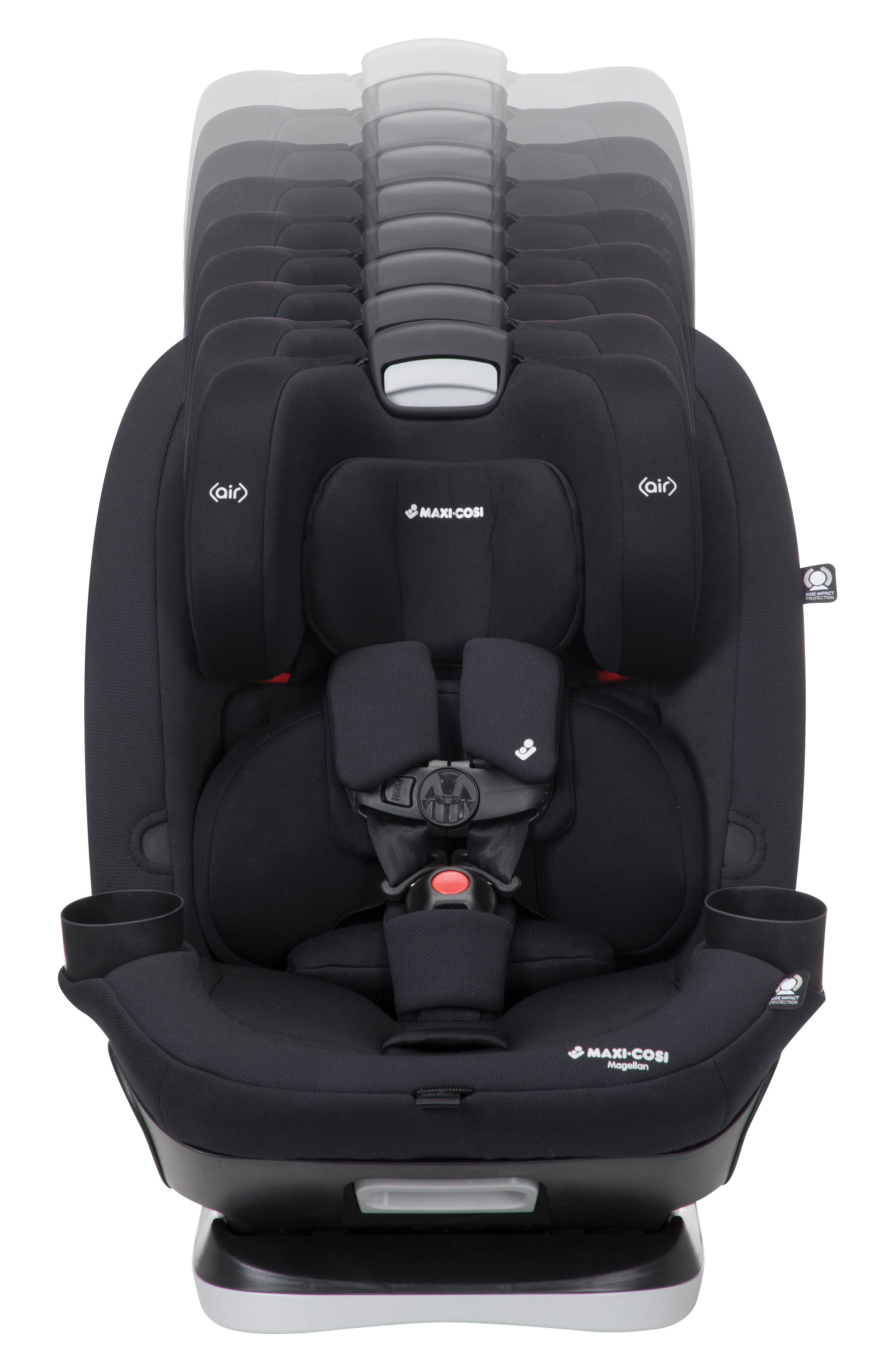 Magellan 2018 5-in-1 Convertible Car Seat,                             Alternate thumbnail 3, color,                             Night Black